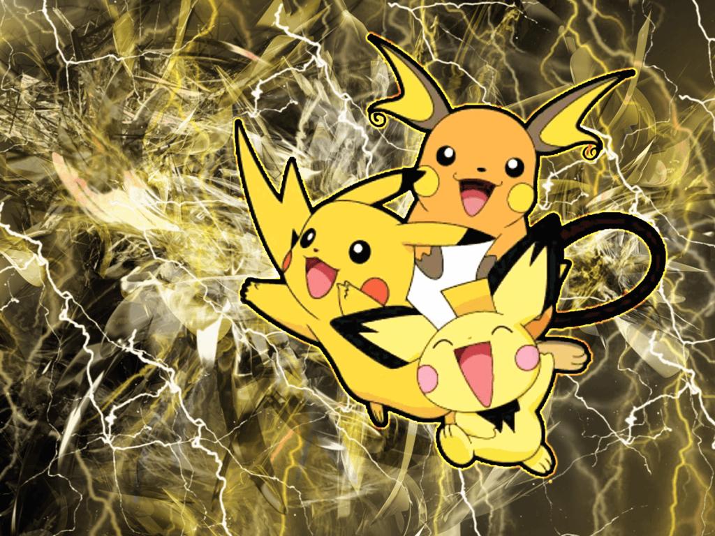 Pikachu And Raichu Wallpapers - Wallpaper CavePichu Pikachu Raichu