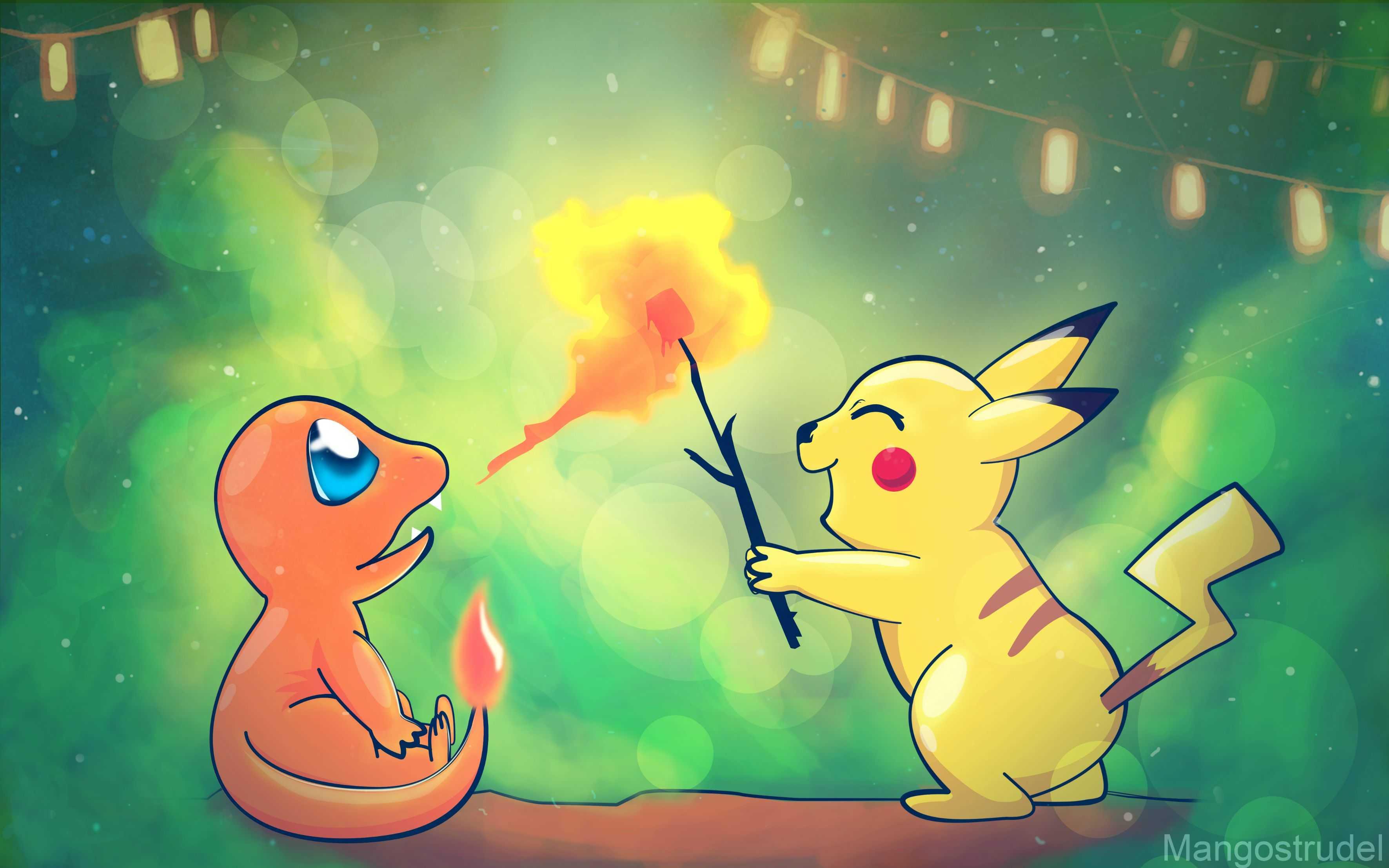 pikachu and charmander wallpaper httphdwallpaperinfopikachu
