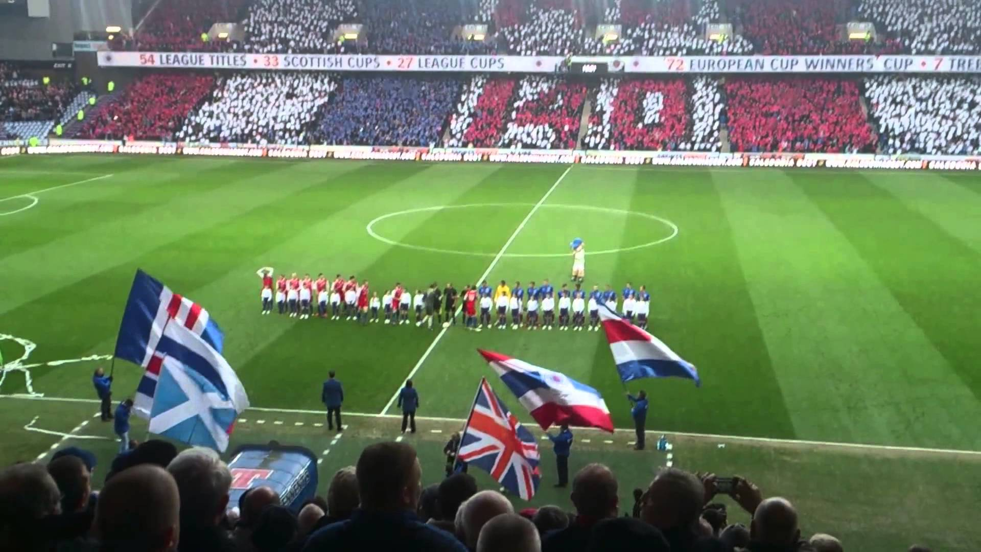 Rangers FC 140 Years Pre Match Atmosphere HD