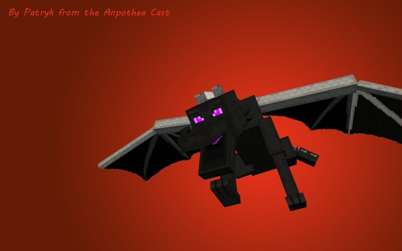 Minecraft Ender Dragon Wallpaper B7D