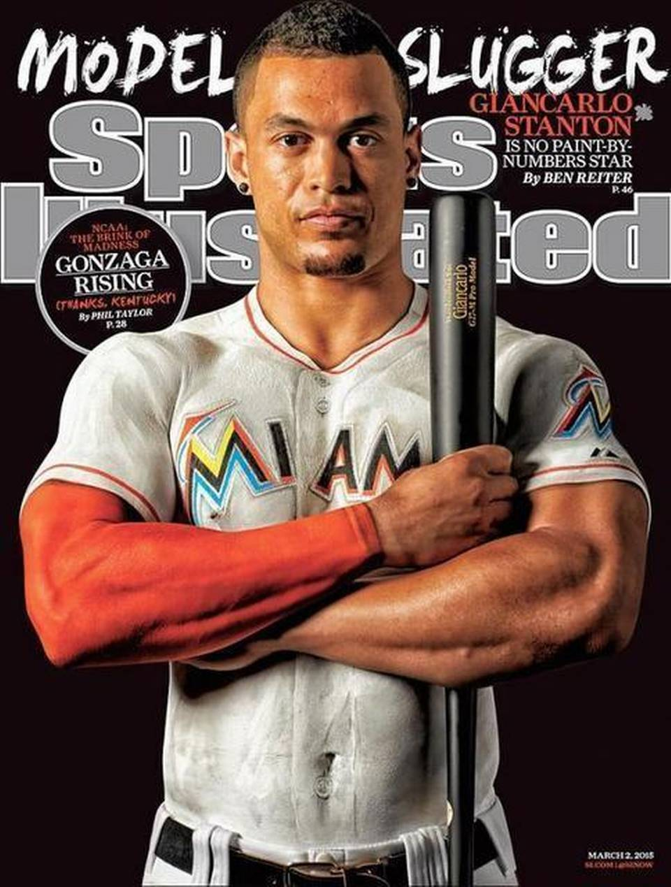 Paint-clad Marlins slugger Giancarlo Stanton covers latest issue ...