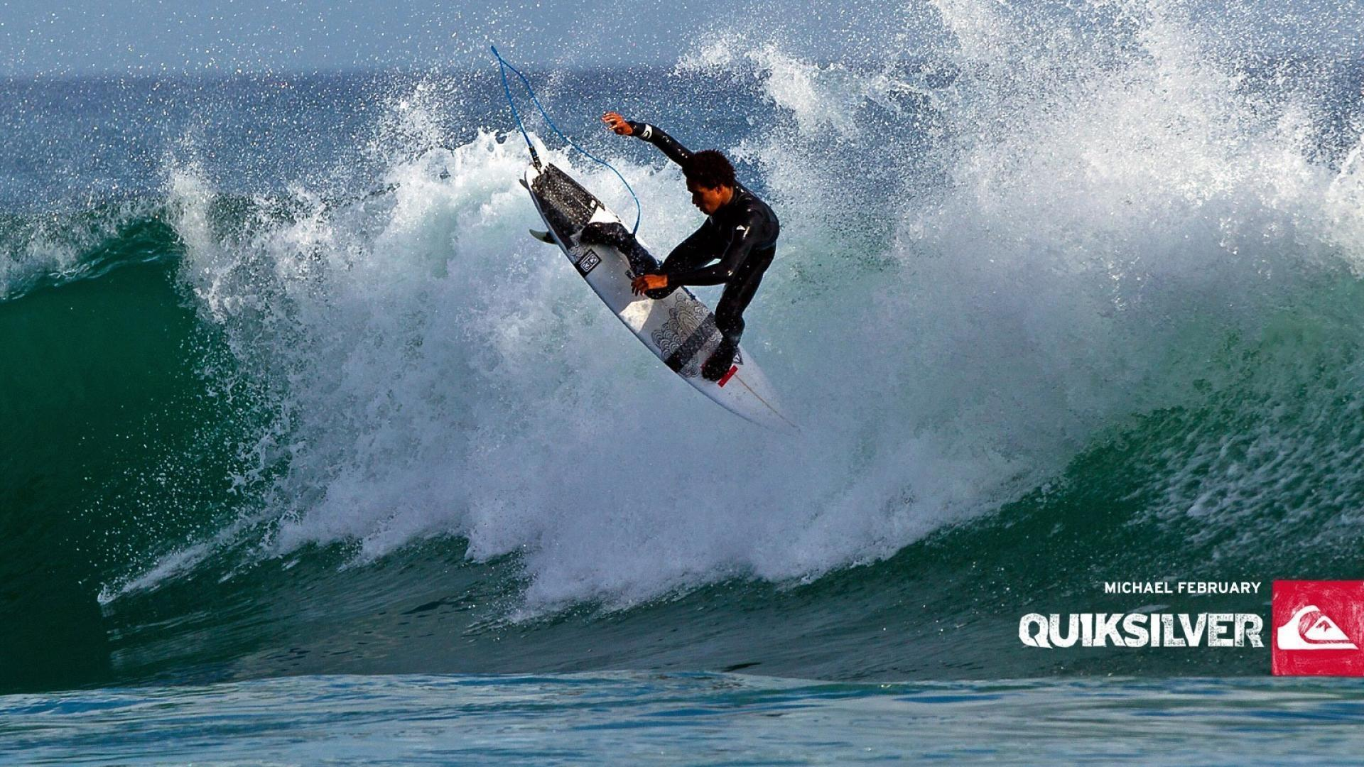 Waves surfing quiksilver wallpaper | (35586)