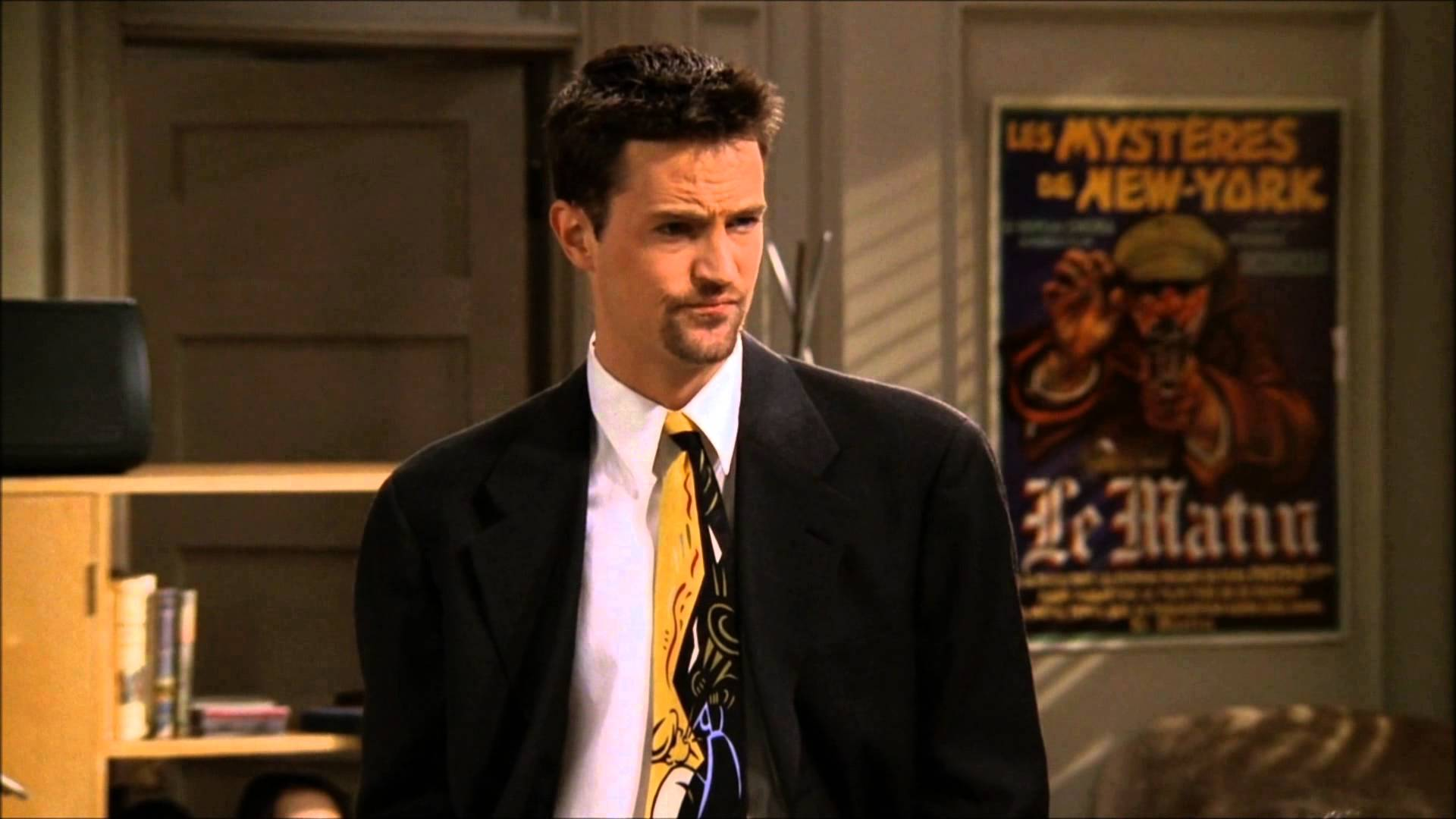 an analysis of the character of chandler bing in the tv series friends Pages in category friends characters rachel greene monica geller-bing ross geller joey tribbiani jr chandler bing mike hannigan friends central is a.