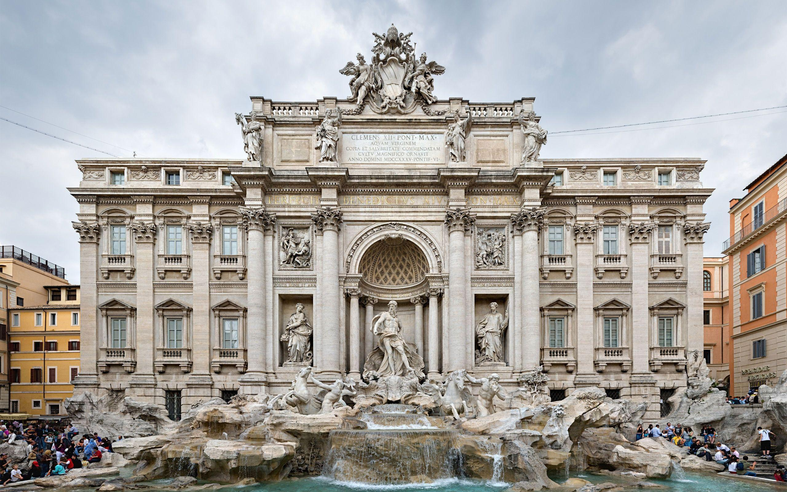 Fontana di Trevi Italy HD Wallpaper | Background Image | 2560x1600 ...