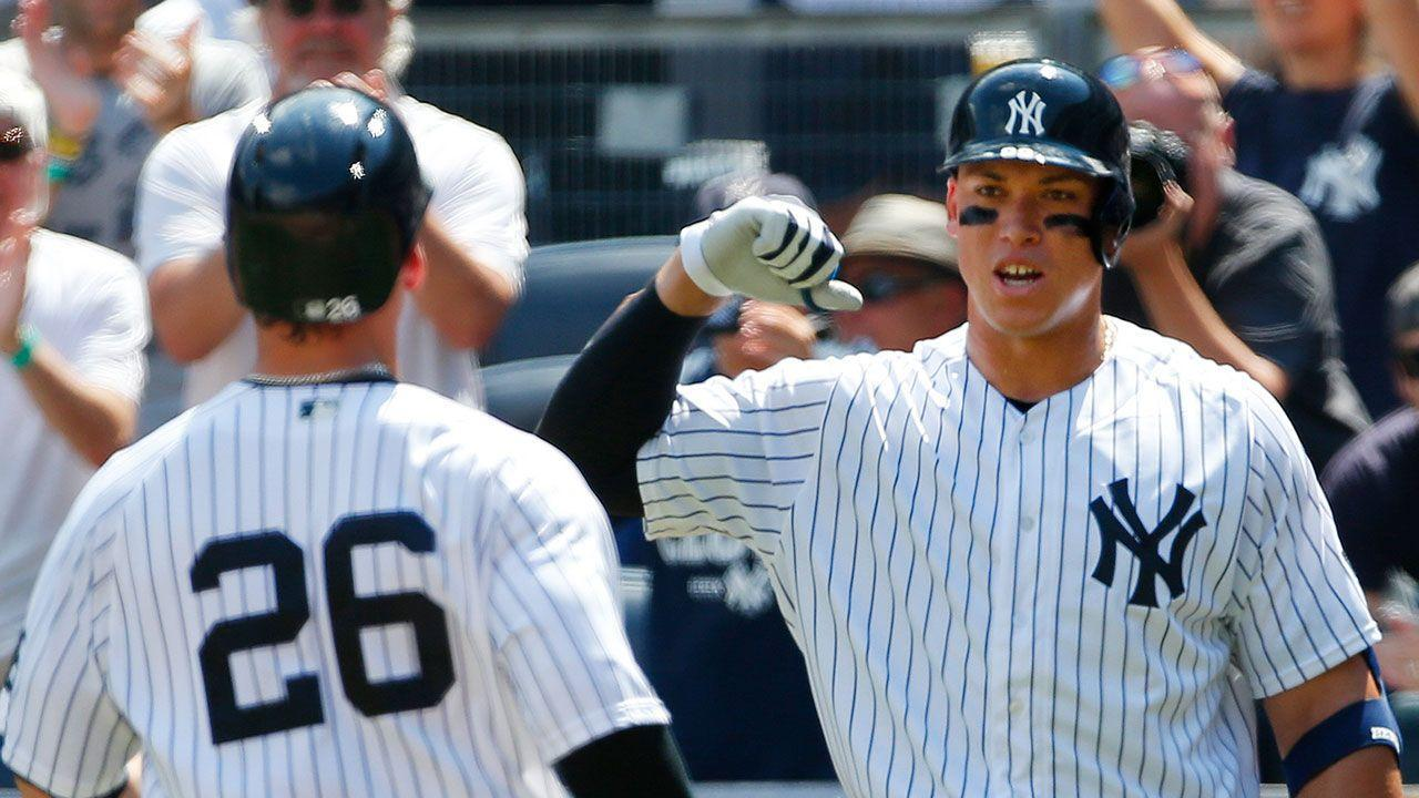 Tyler Austin, Aaron Judge hit first home runs