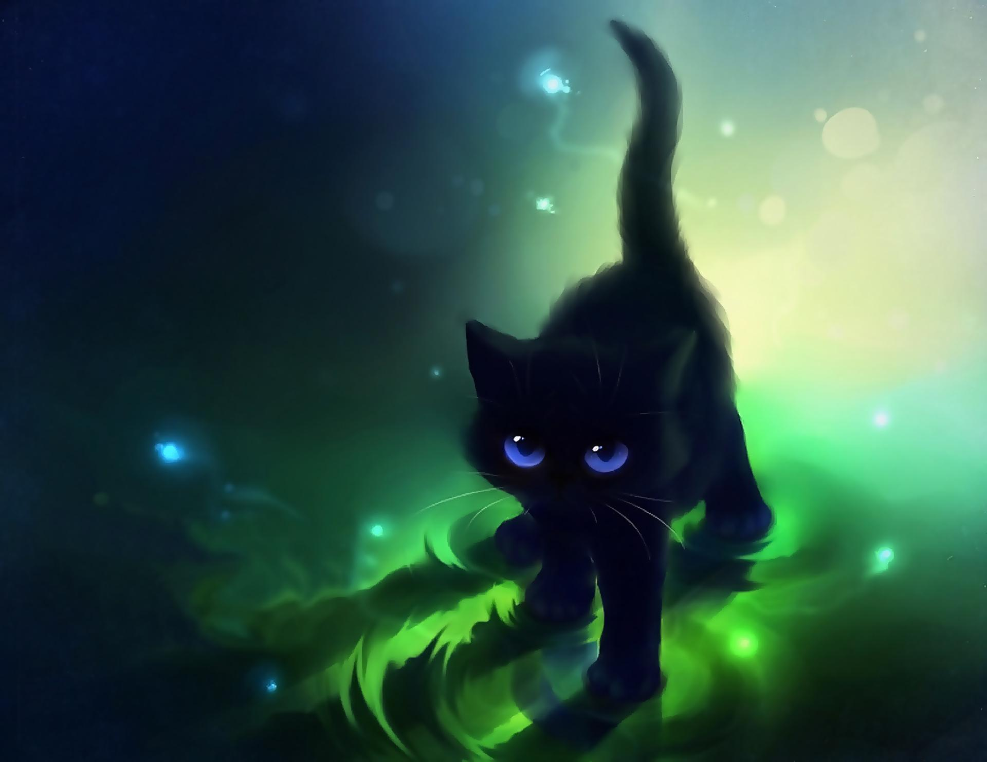 Anime Cats Wallpapers Wallpaper Cave