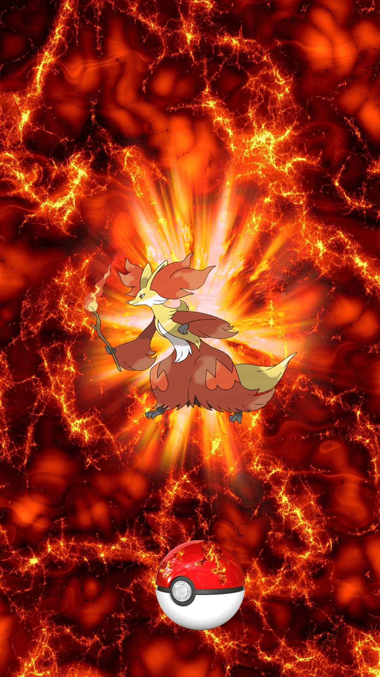 655 Fire Pokeball Delphox Mahoxy 137 140 Braixen | Wallpaper