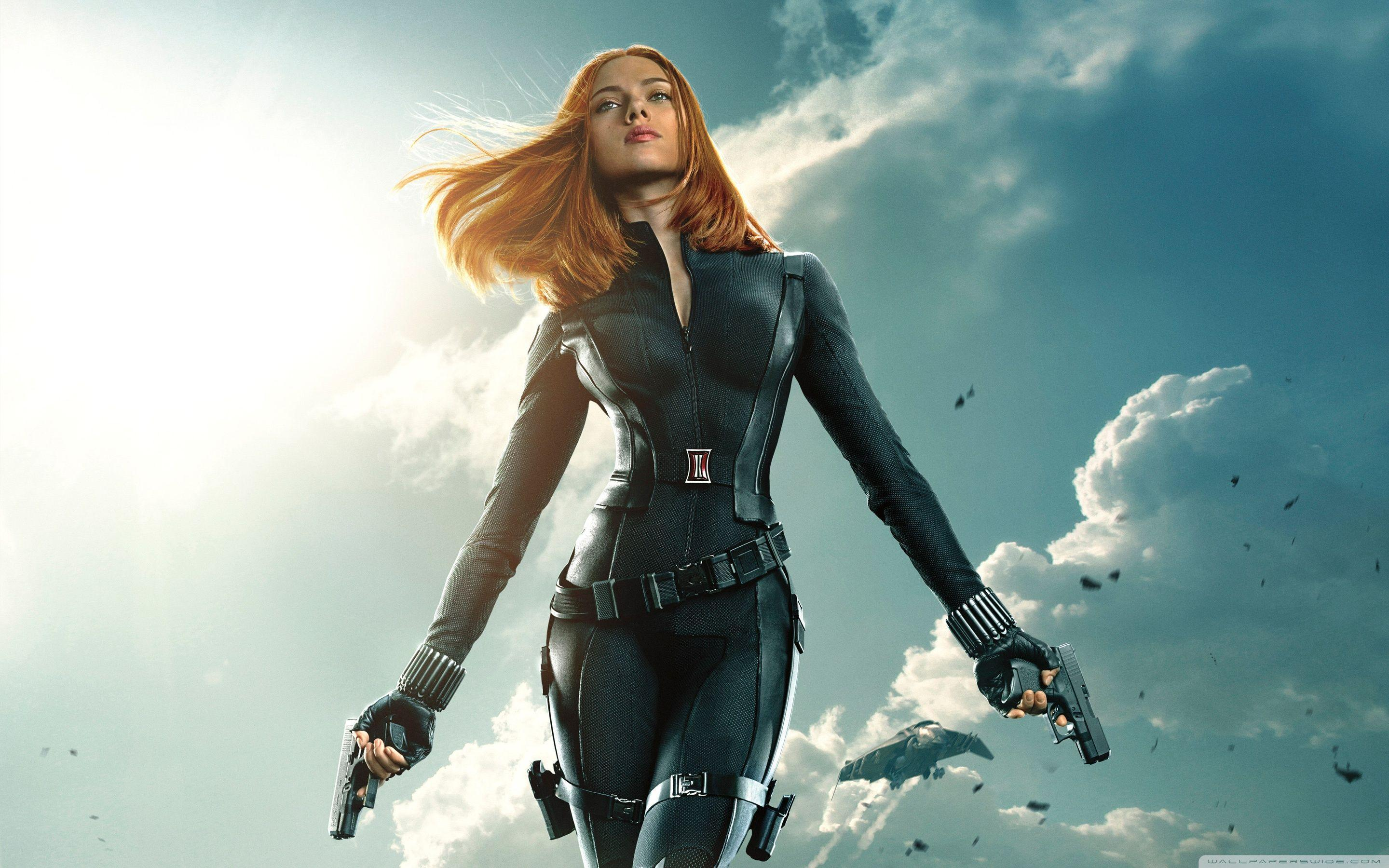 Black Widow in Captain America The Winter Soldier HD desktop ...
