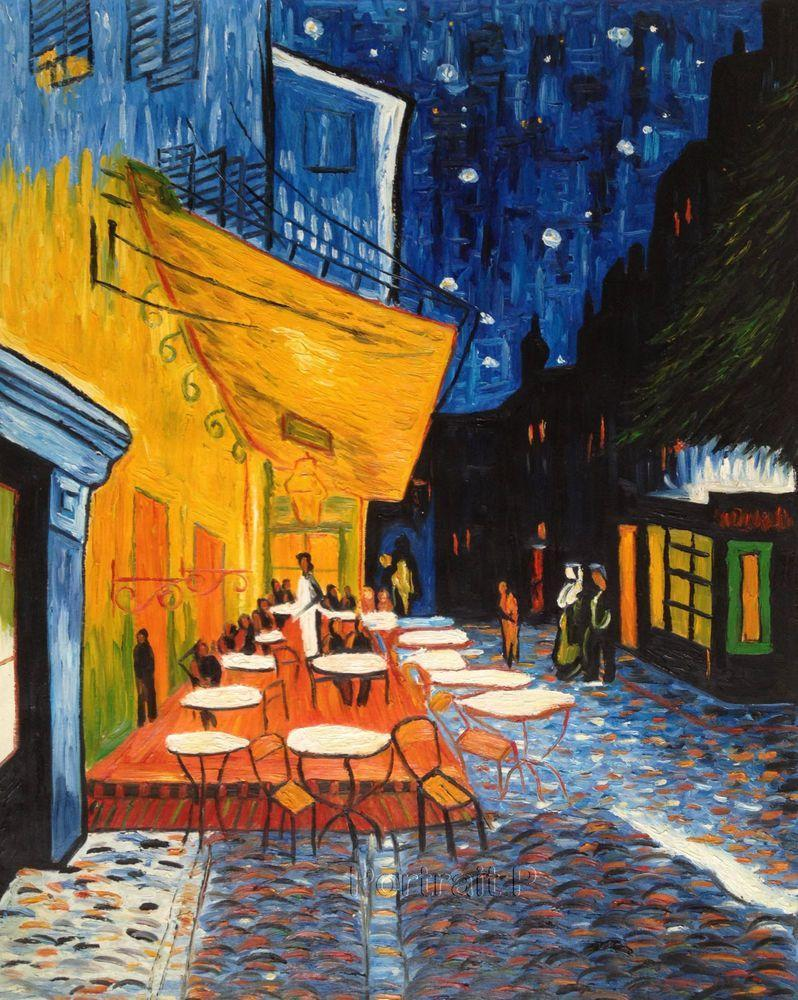 vincent van gogh cafe terrace at night Cafe terrace at night, also known as the cafe terrace on the place du forum, is a painting by the dutch artist vincent van gogh which was done in arles, france in september 1888.