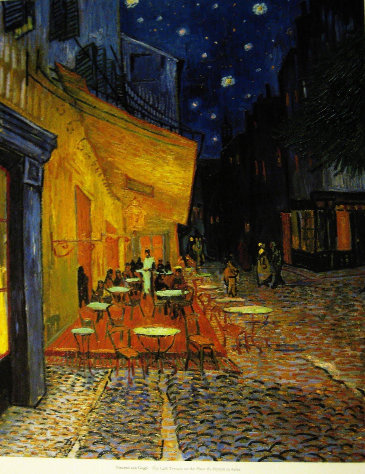 картина ван гога ночная терраса кафе наш