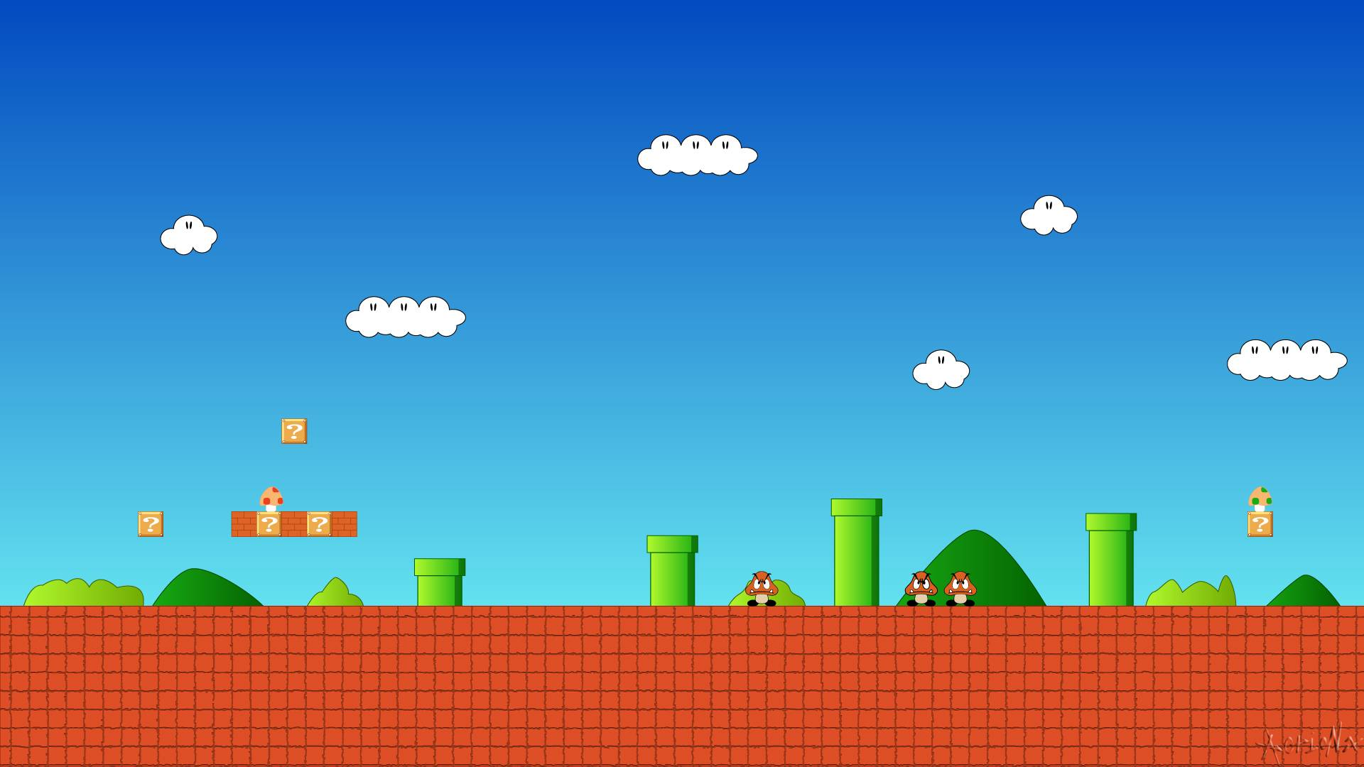 Games Wallpaper Super Mario 8 Bit Wide With
