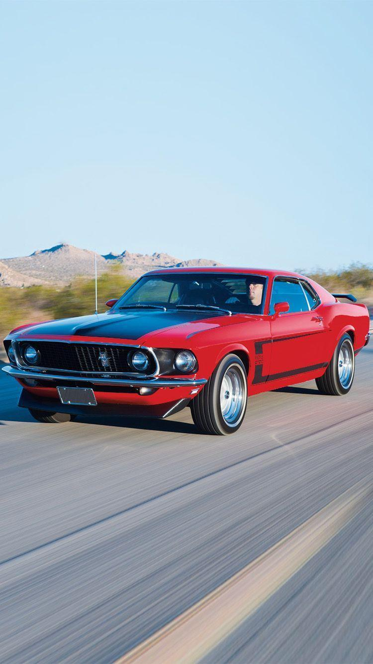 1969 Ford Mustang iPhone 6/6 plus wallpapers