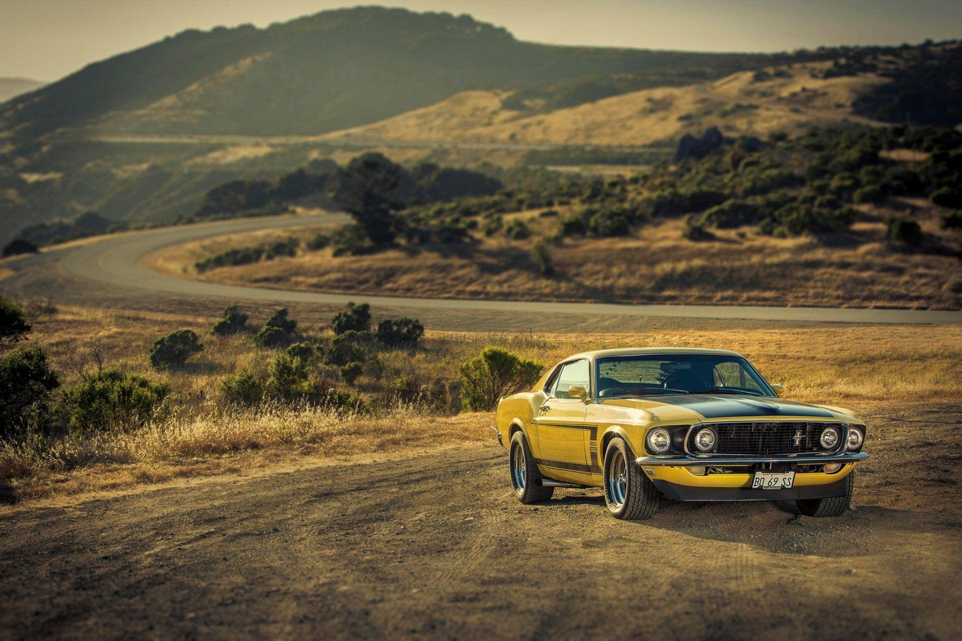 ford mustang boss yellow 1969 '69 muscle car ford mustang muscle
