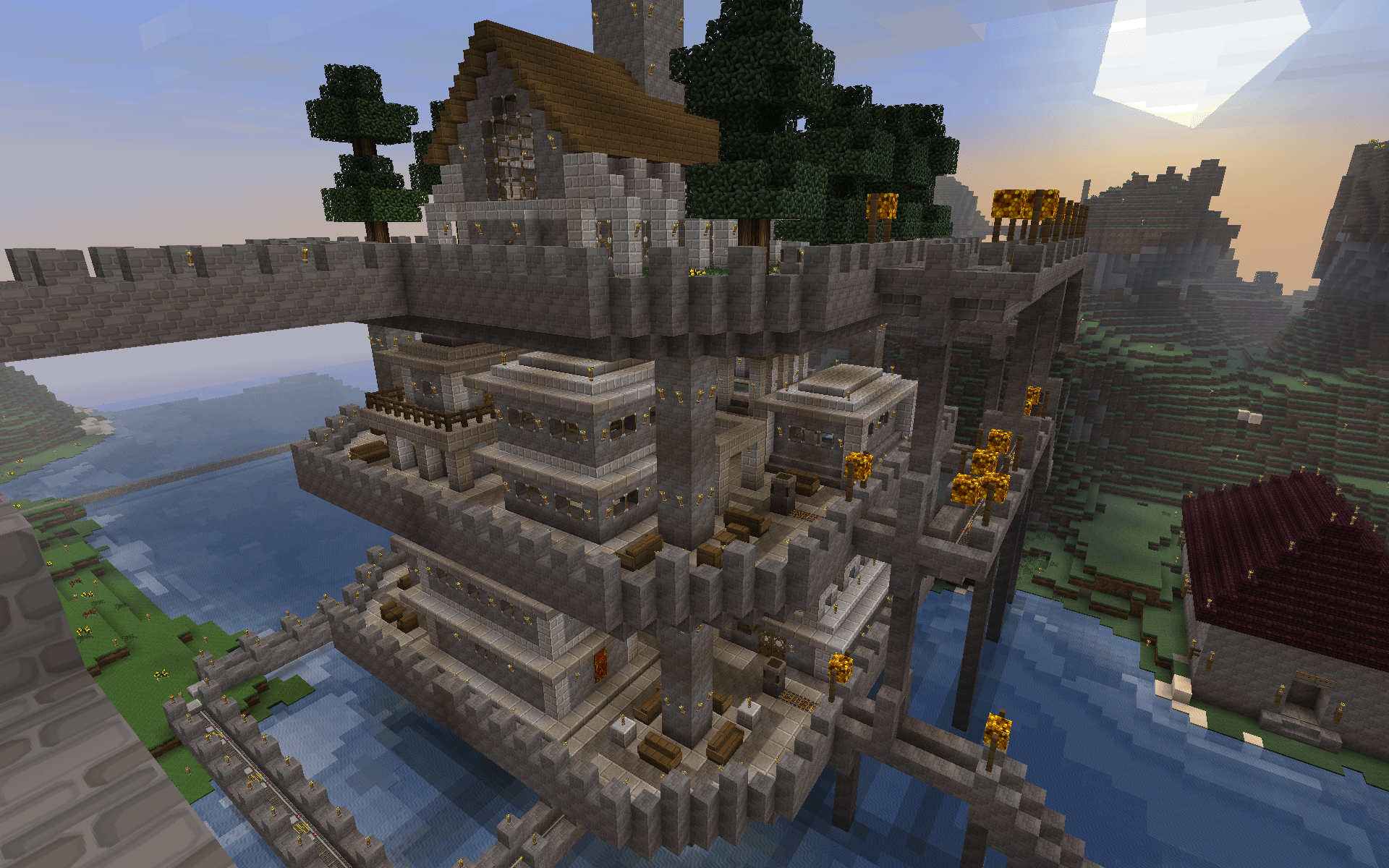 New Medieval Project - Big Manor House Minecraft Blog