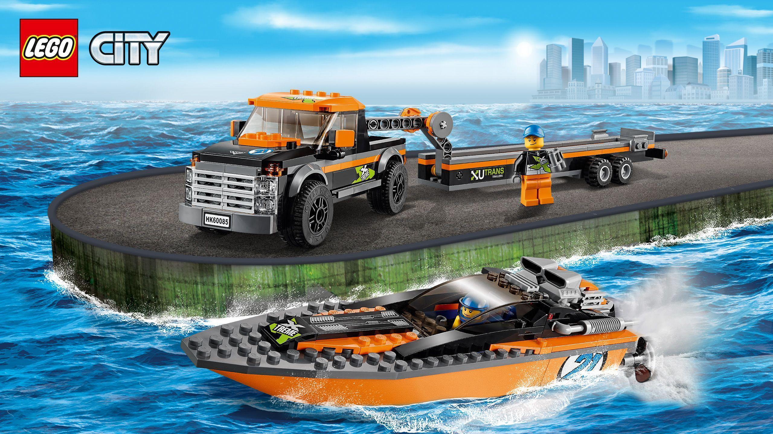 60085 4x4 with Powerboat - Wallpaper - LEGO® City Activities ...