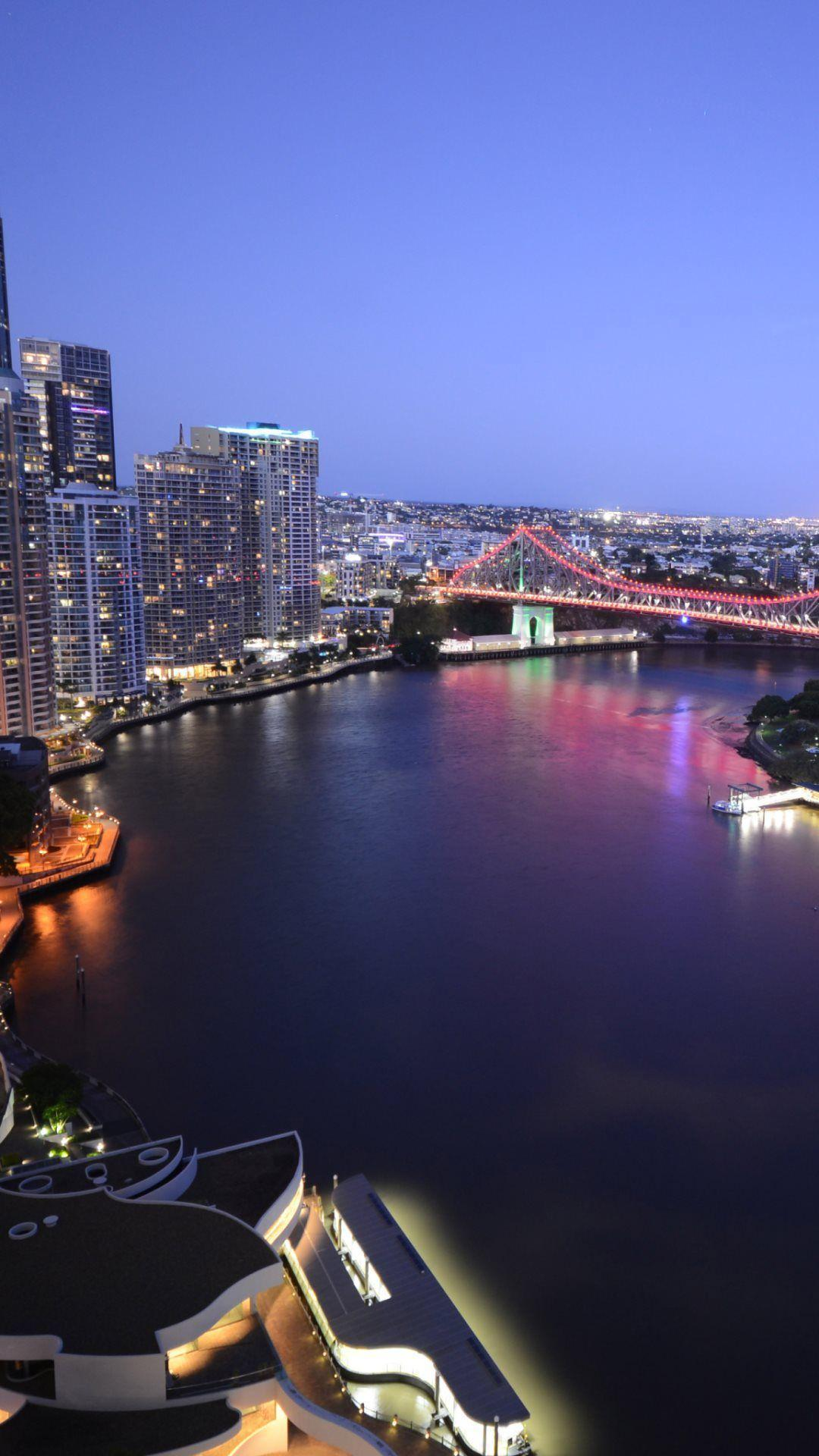 Brisbane by night Wallpapers Australia World