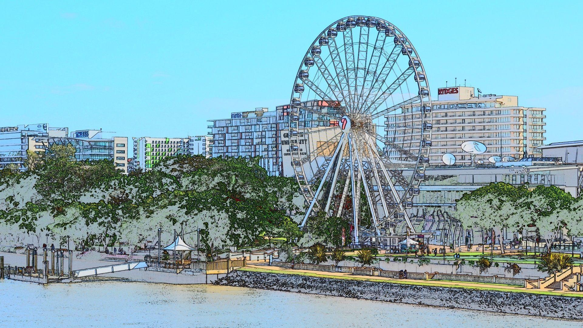 Brisbane South Bank - Big Wheel Full HD Wallpaper and Background ...