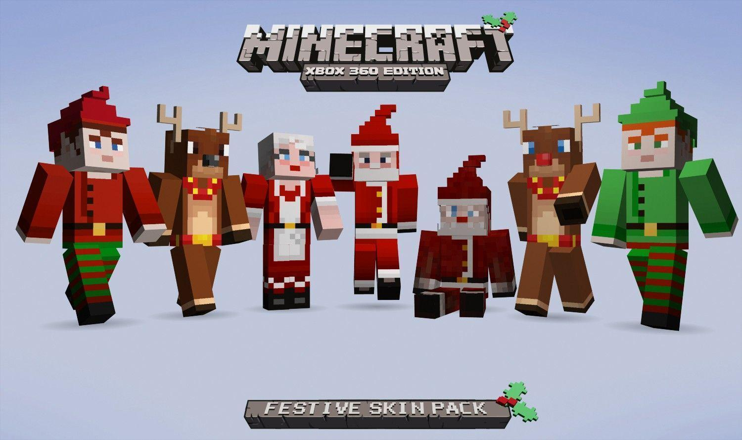 Minecraft Skin Festive Pack HD Wallpapers of Minecraft