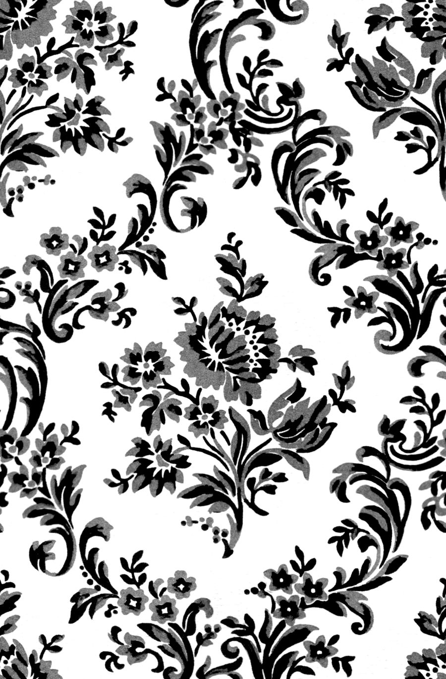 Vintage Seamless Black And White Floral Pattern. Vector ...   Black Floral Vintage Pattern