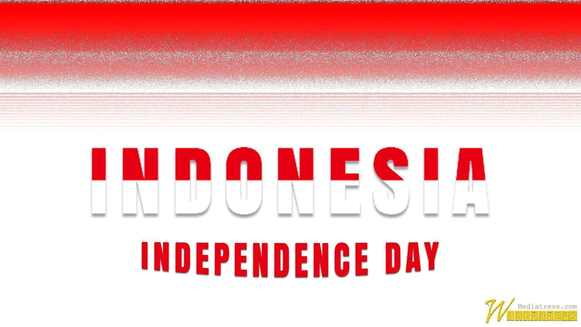 Indonesian Independence Day With The National Flag