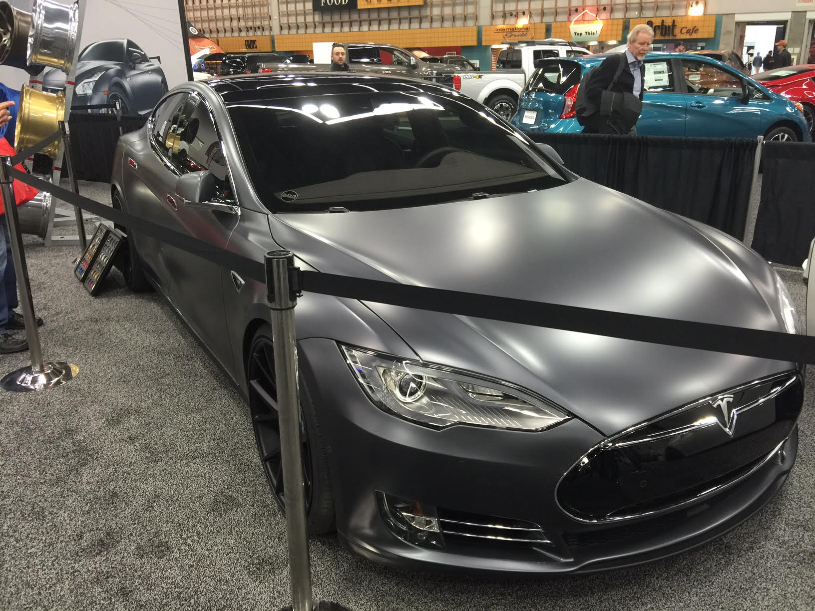 Tesla Model S tricked out by 503 Motoring at the Portland Auto