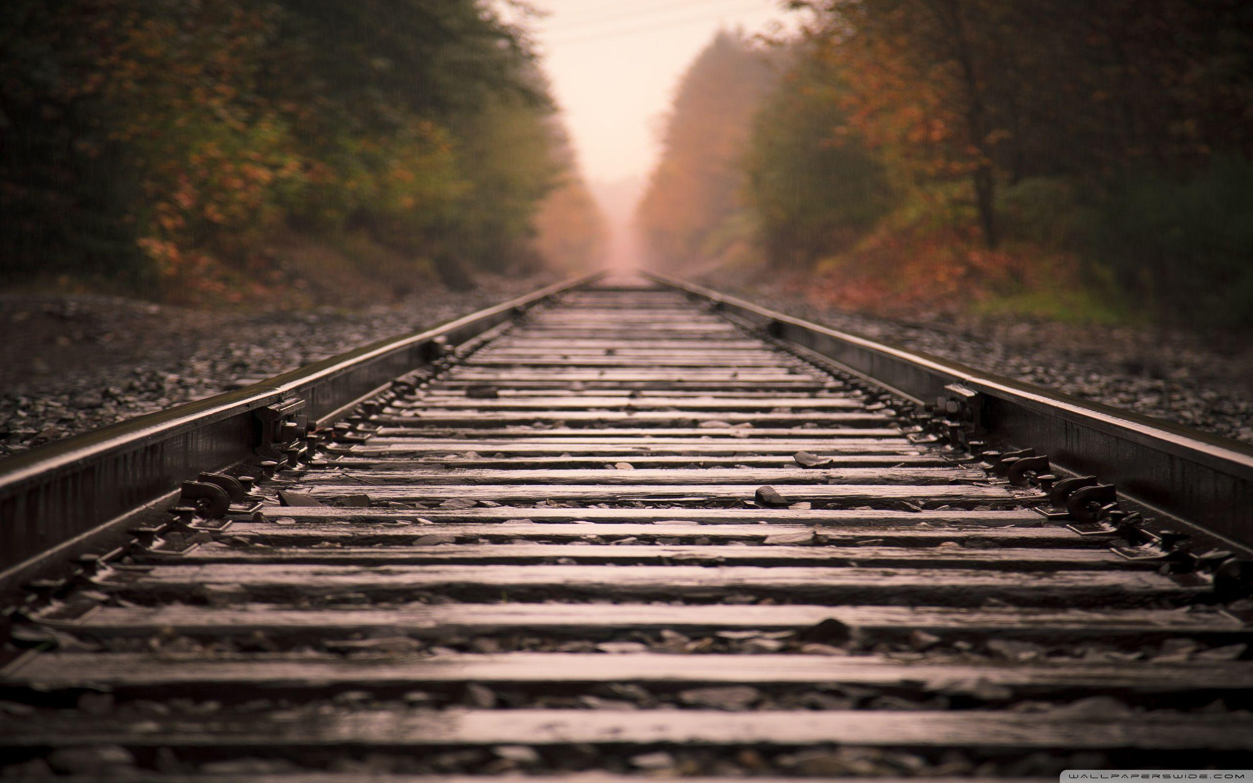 Railroad Tracks ❤ 4K HD Desktop Wallpapers for • Dual Monitor Desktops