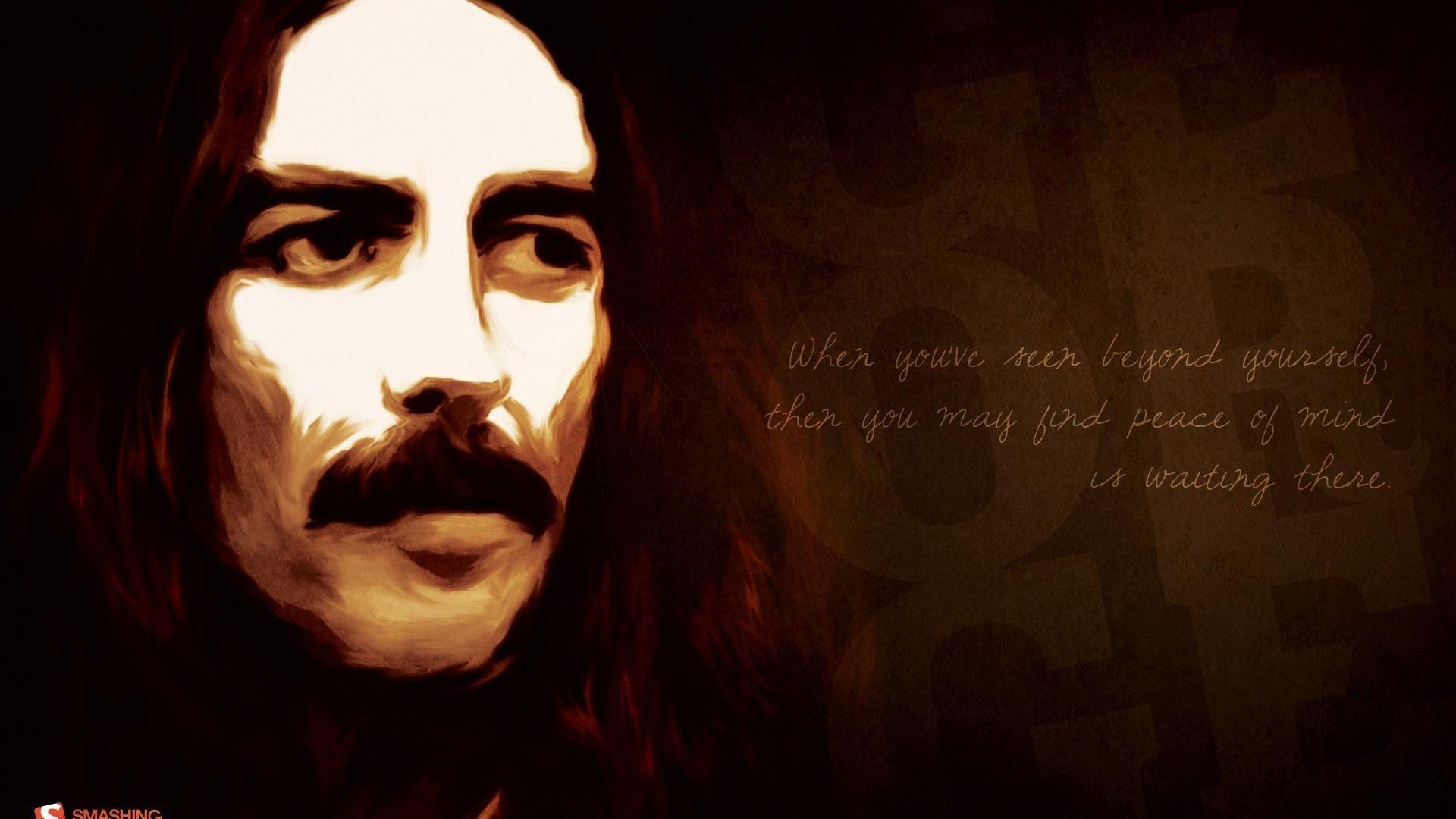George harrison mind faces smashing magazine musicians wallpaper ...