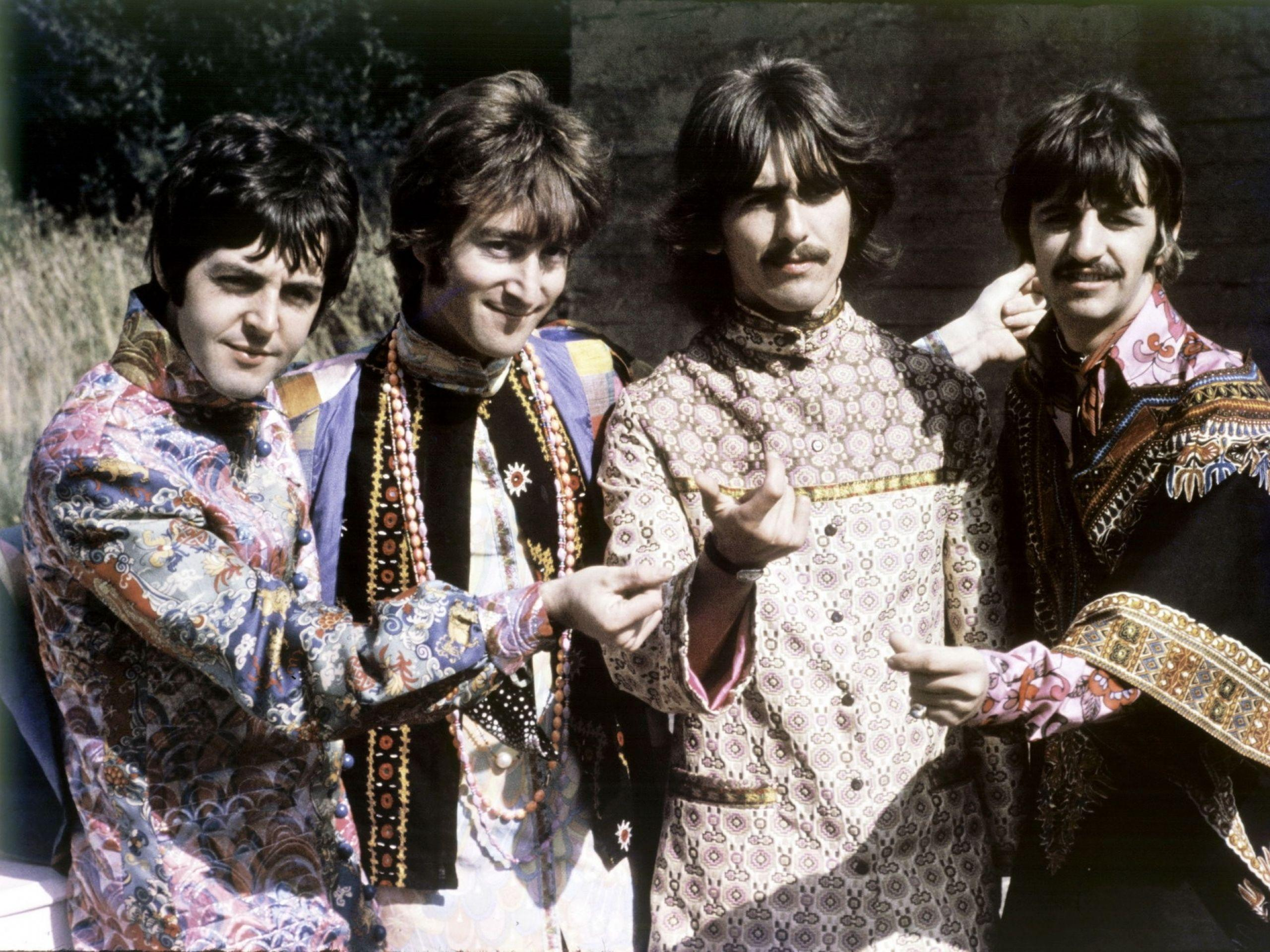 Image - The-beatles-wallpaper-john-lennon-george-harrison-ringo ...