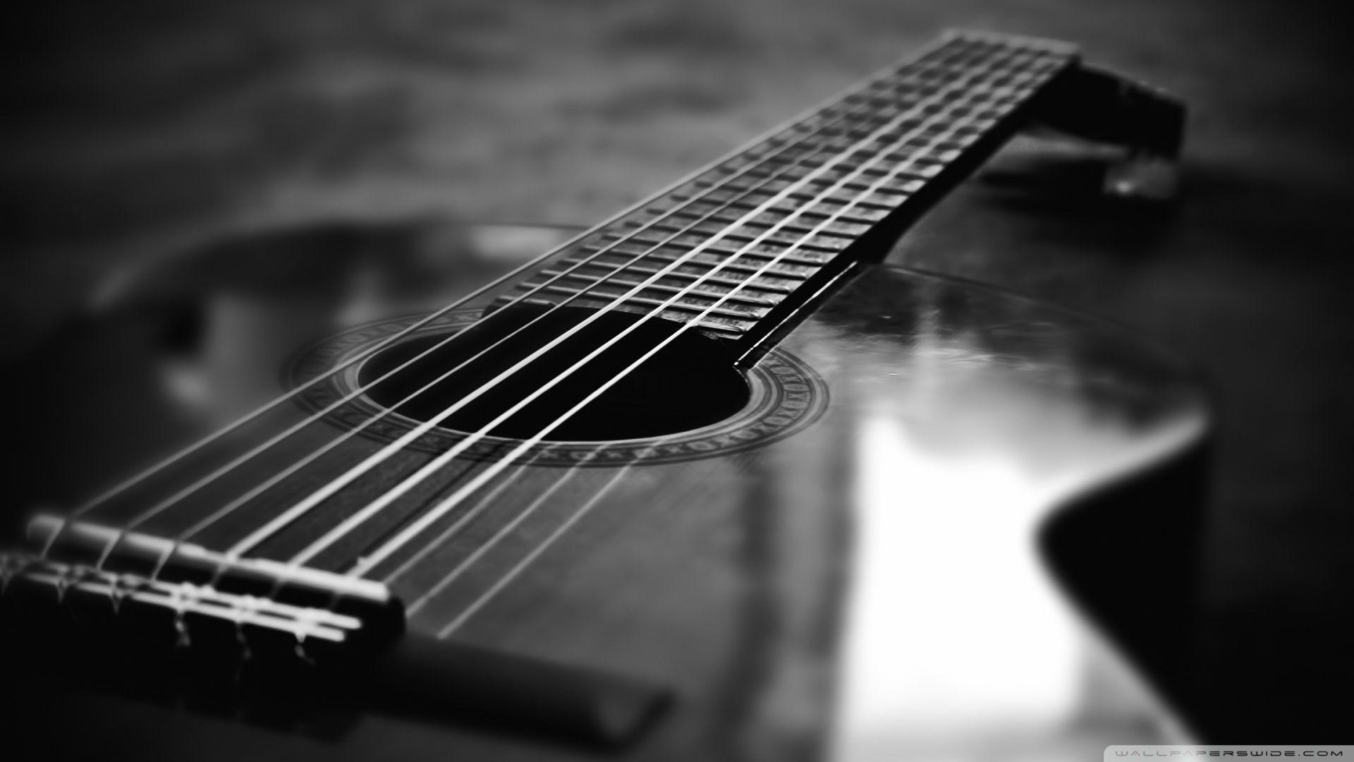 Black And White Hd Wallpapers Of Guitar Wallpaper Cave