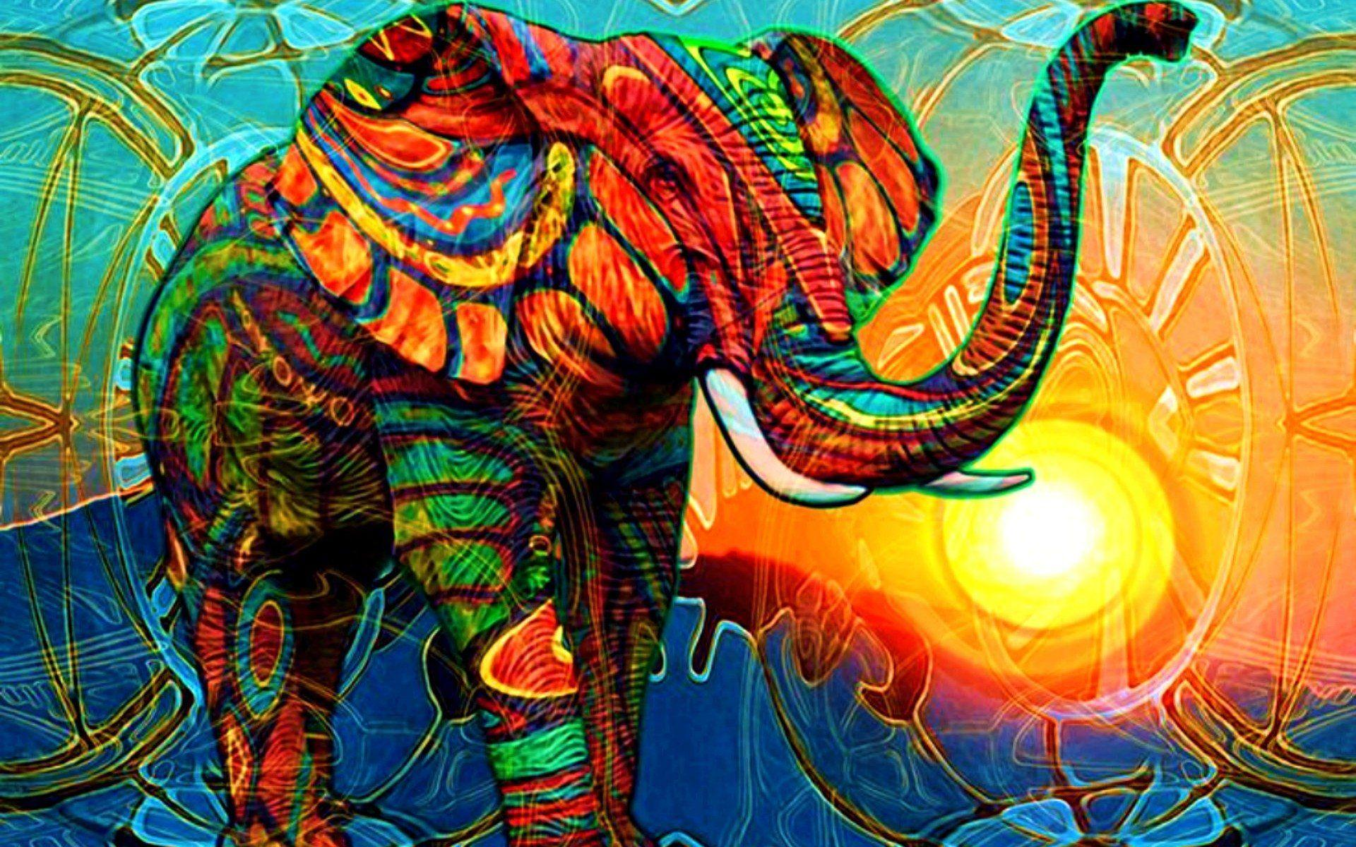 elephant art wallpapers wallpaper cave