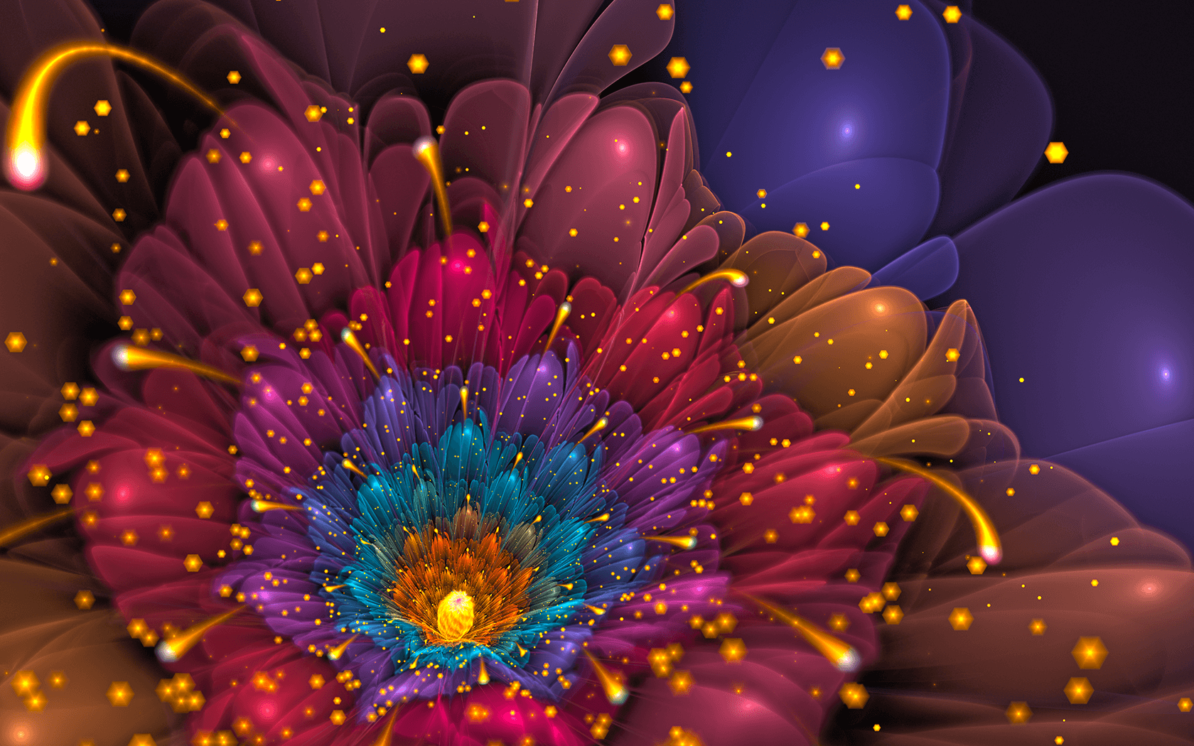 Glitter Flower Wallpapers Wallpaper Cave
