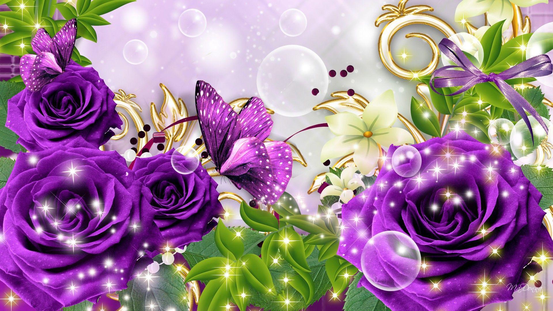 Glitter Flower Wallpapers - Wallpaper Cave