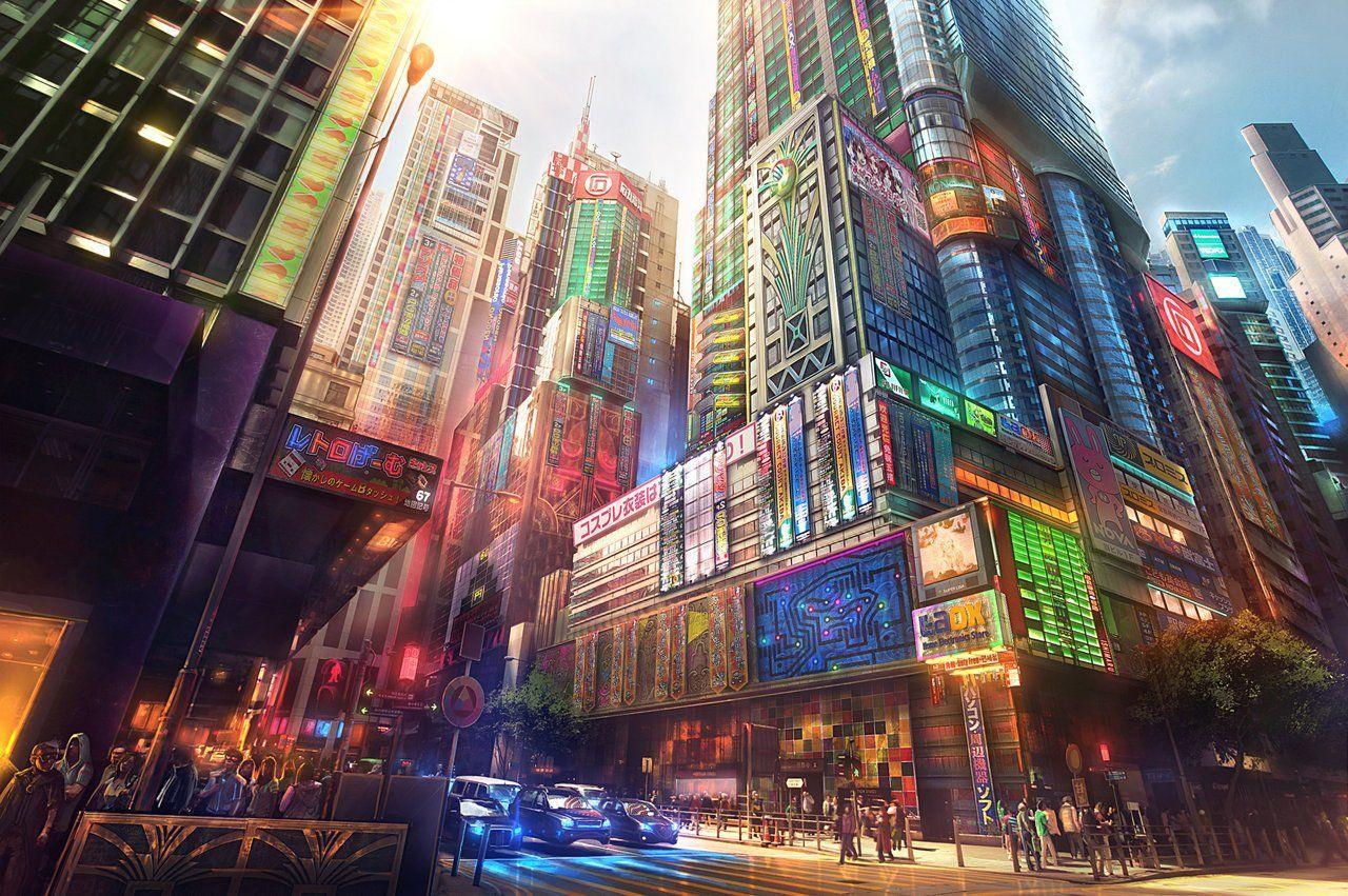 Anime City Wallpapers Wallpaper Cave