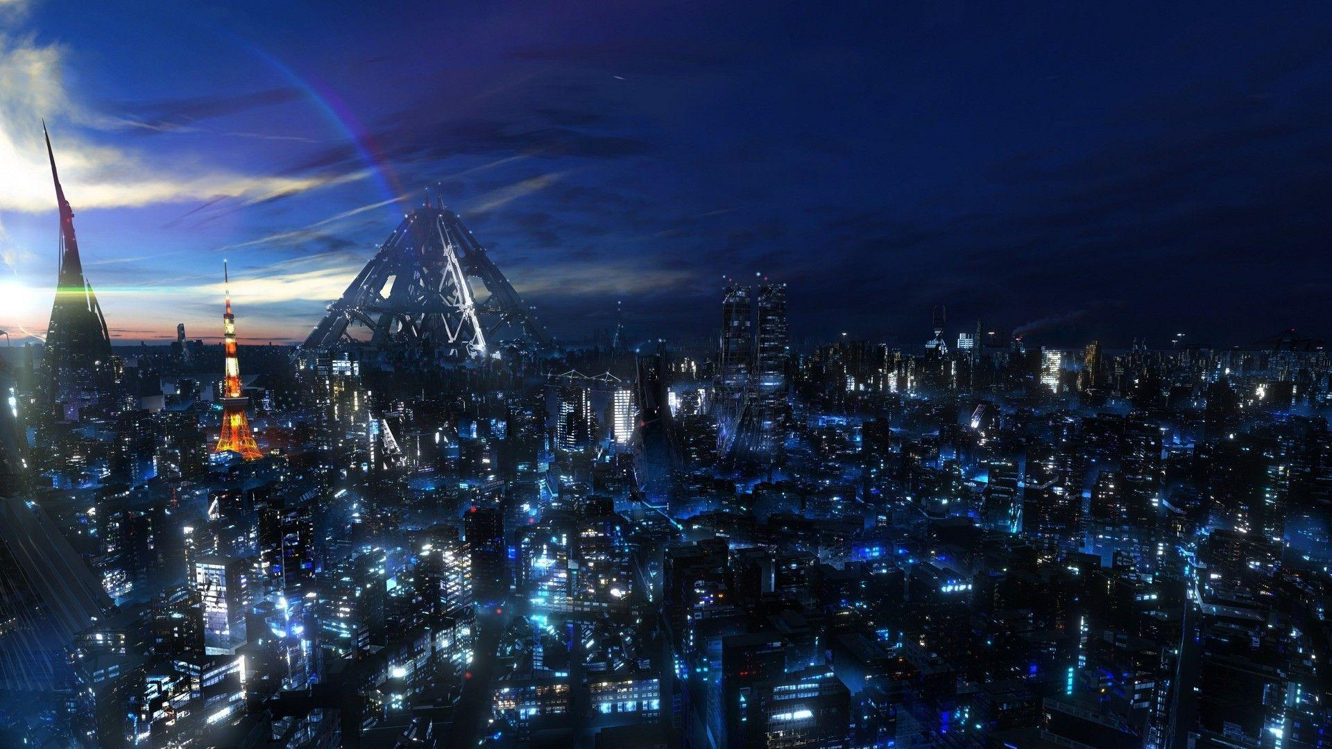 Cityscapes anime cities futuristic city wallpapers
