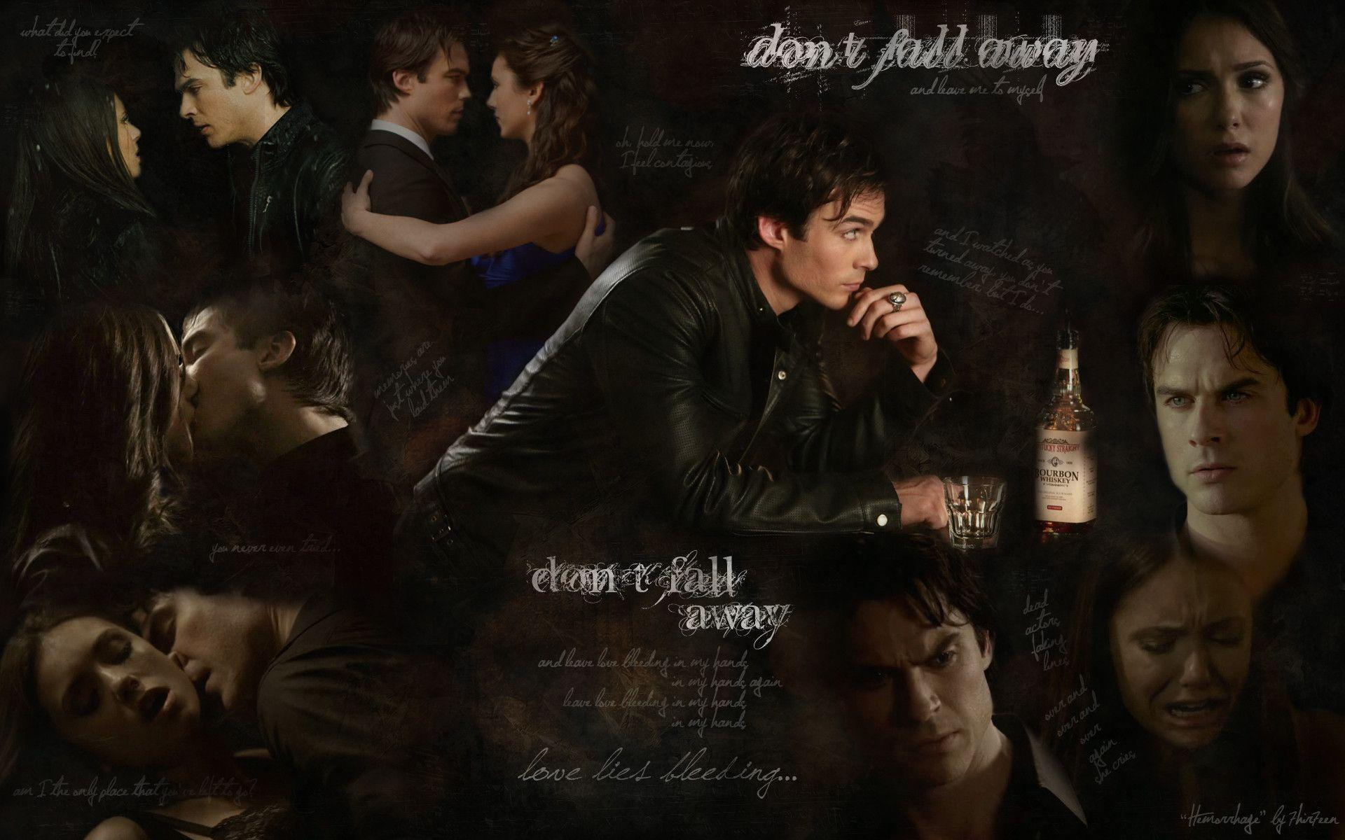 damon and elena wallpapers Collection