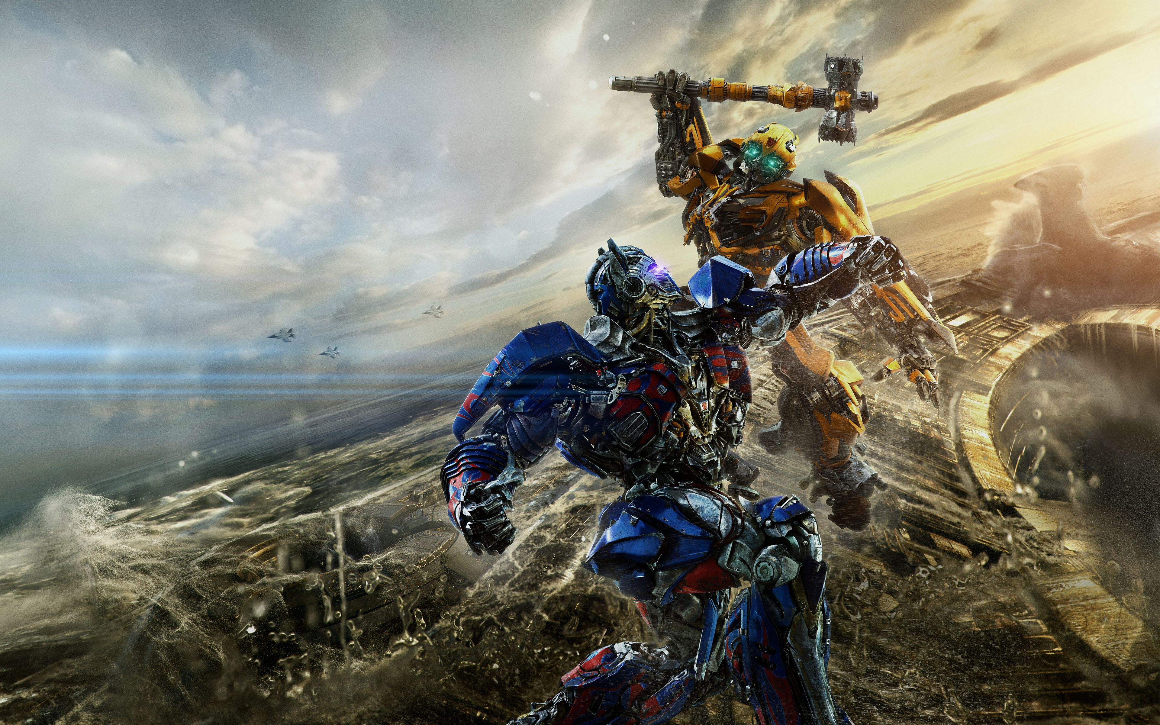 Bumblebee vs Optimus Prime Transformers The Last Knight 5K