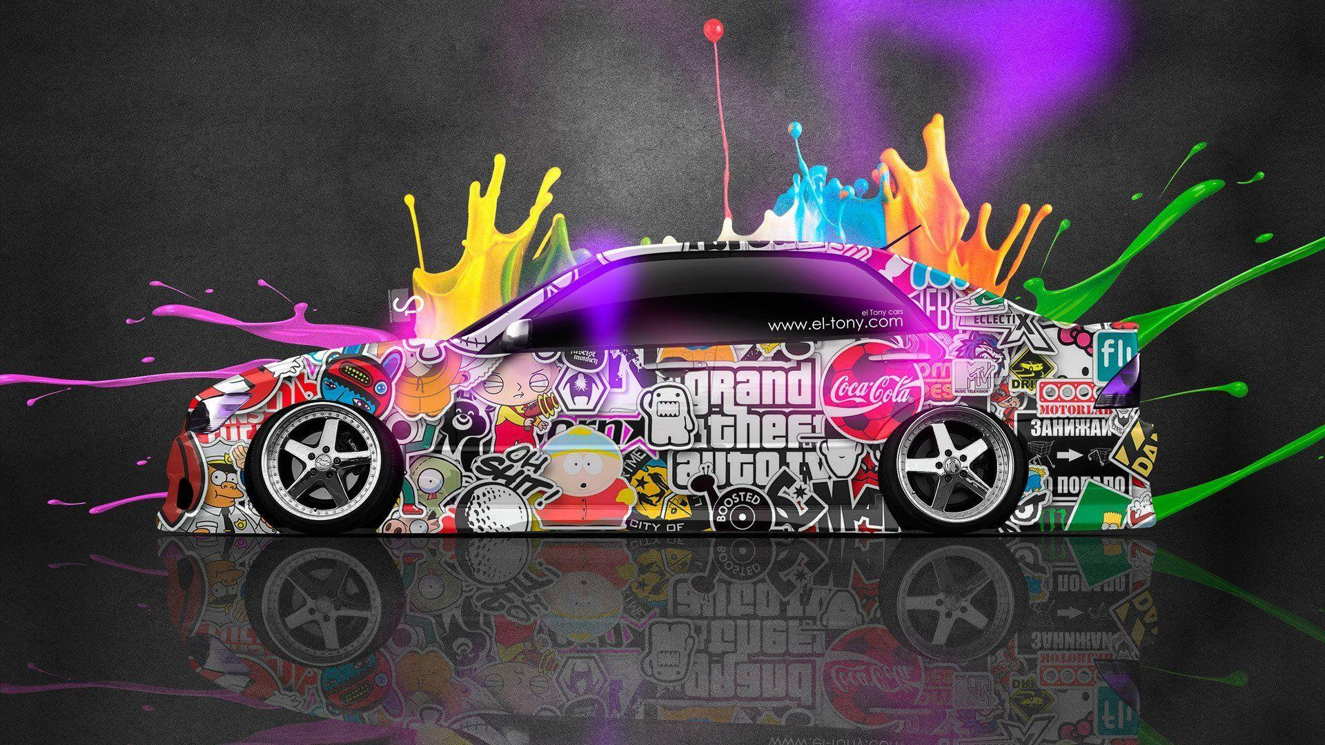 Tony Kokhan Toyota Altezza Jdm Side Multicolors Abstract Neon El .