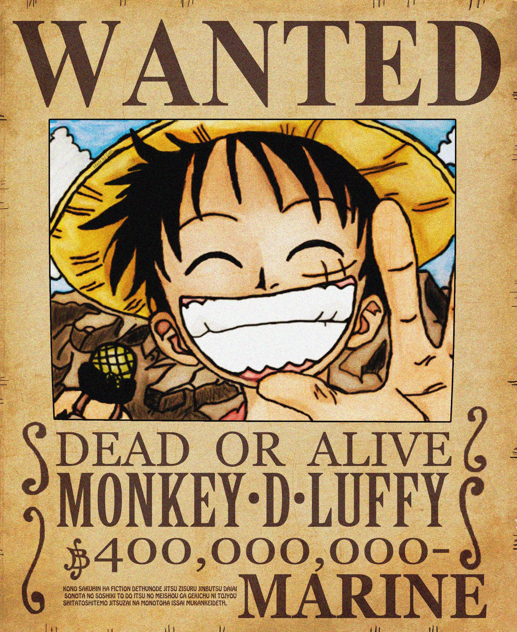 Wanted poster one piece wallpapers wallpaper cave - One piece wanted luffy ...