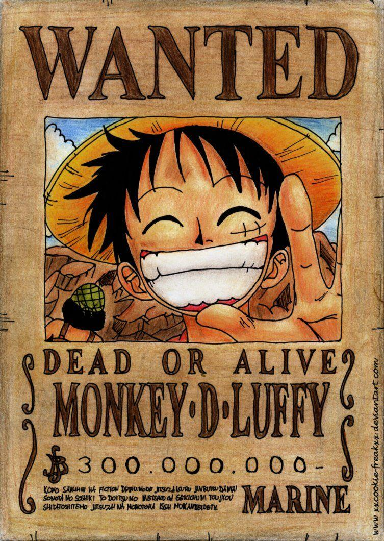 Wanted Poster One Piece Wallpapers Wallpaper Cave