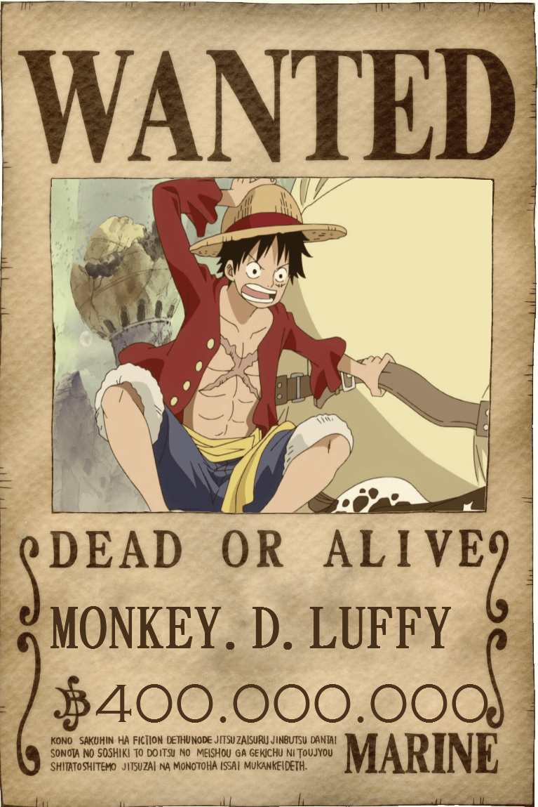 Wanted poster one piece wallpapers wallpaper cave - One piece luffy wanted ...