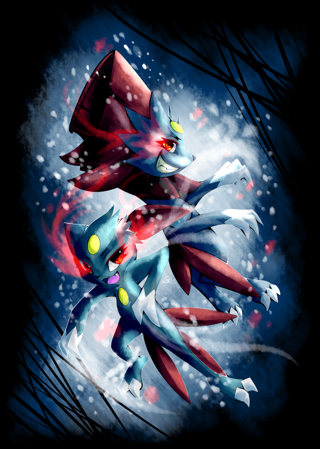 Sneasel and Weavile by Insane