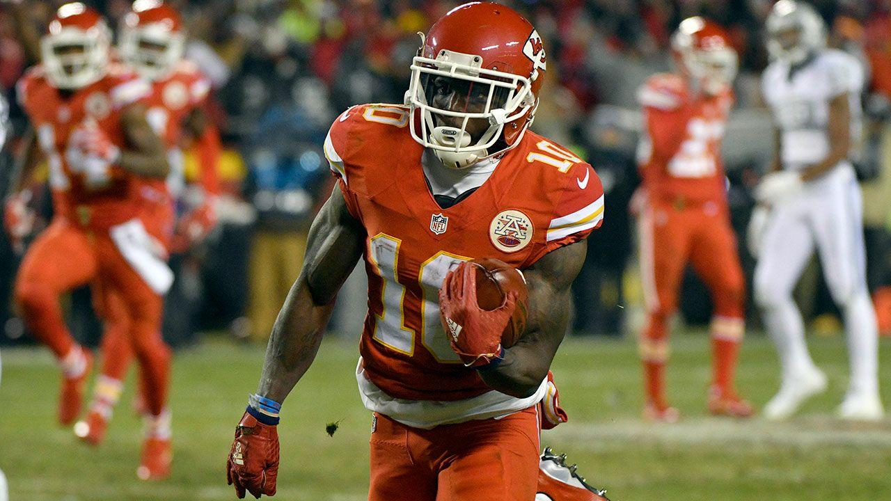 "Rookie Tyreek Hill Thriving in Primetime, Reminds Him of ""Friday"