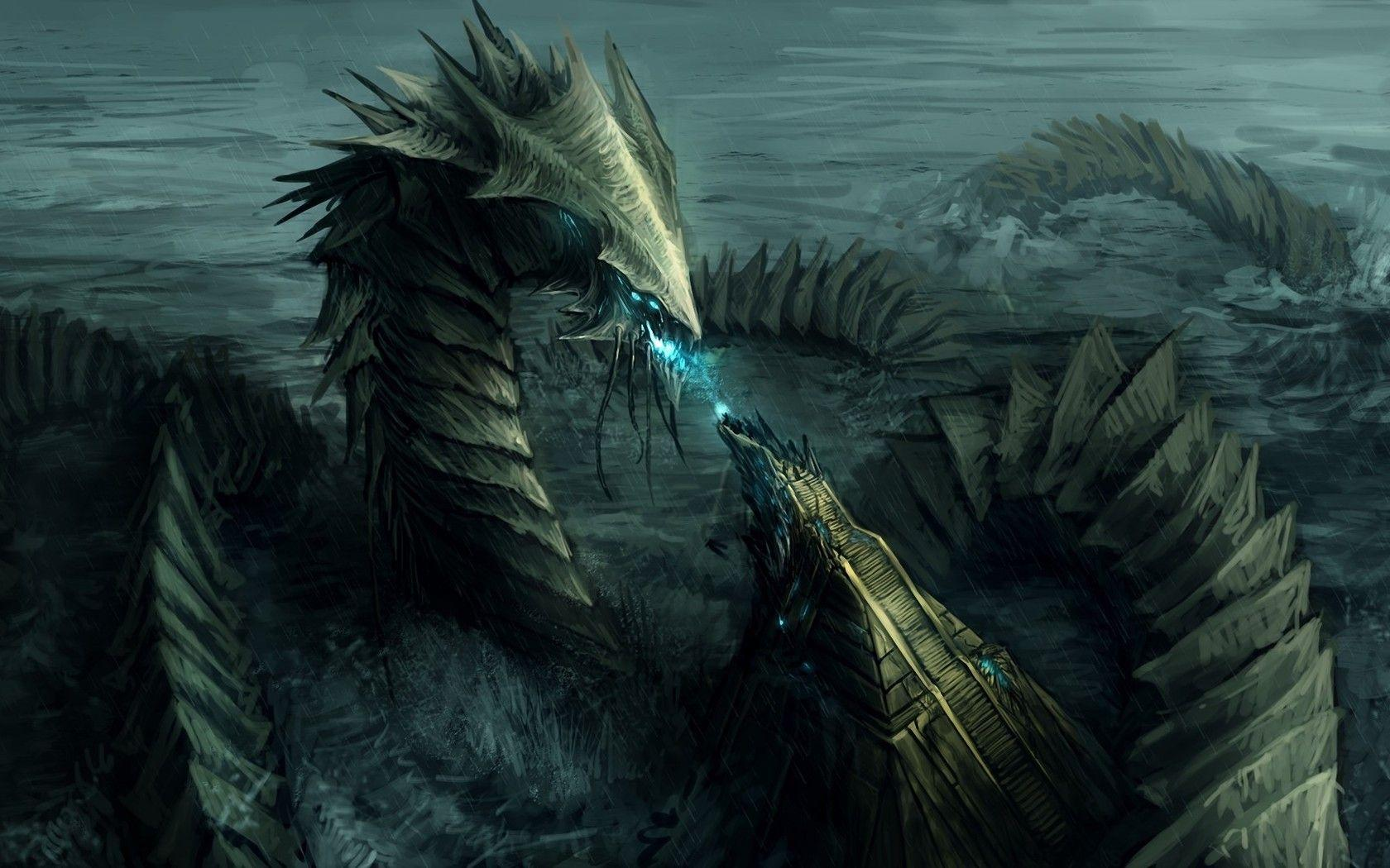 Underwater Monster wallpaper | Dragons and Griffons | Pinterest ...