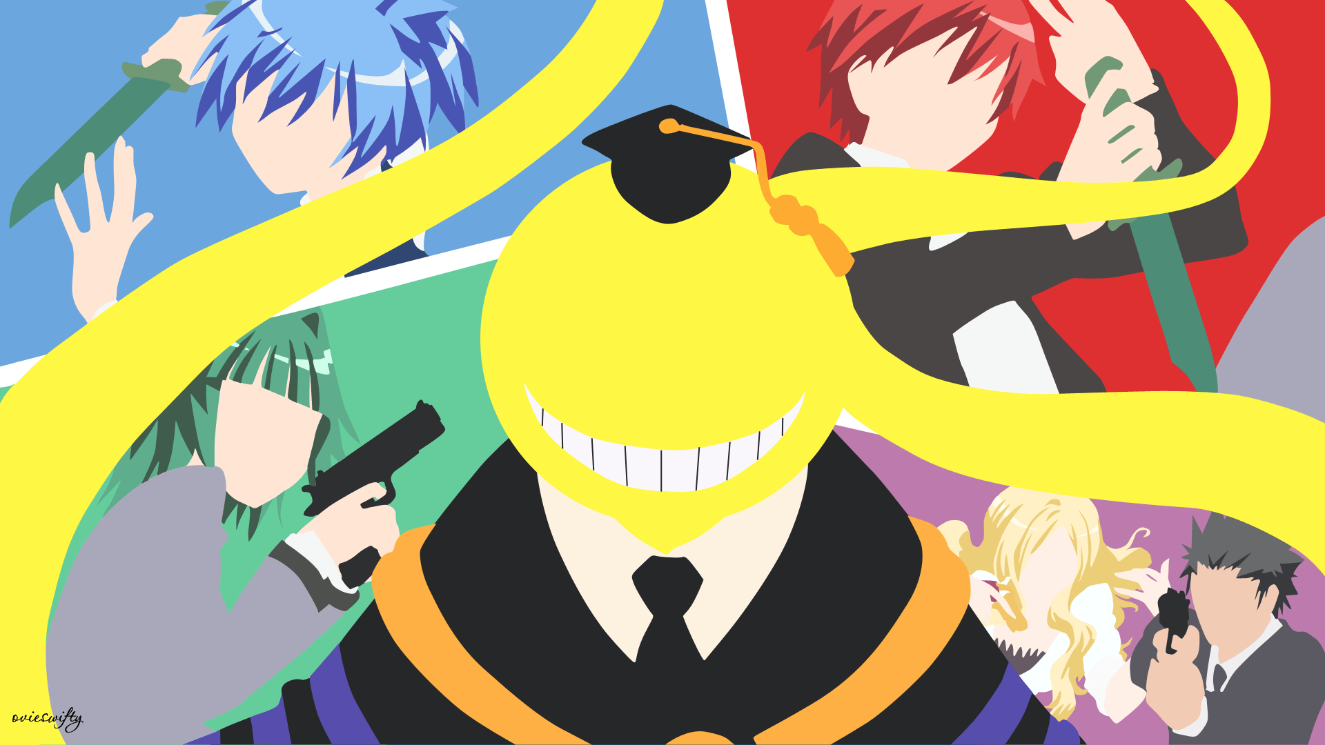 Minimalist Classroom Game ~ Assassination classroom hd wallpapers wallpaper cave