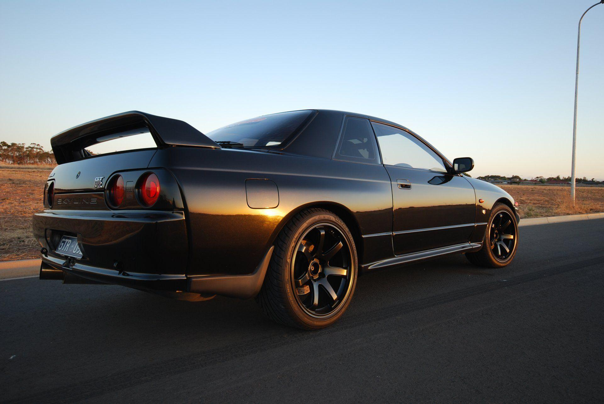 nissan skyline gt-r r32 coupe black japan wallpapers drift jdm ...