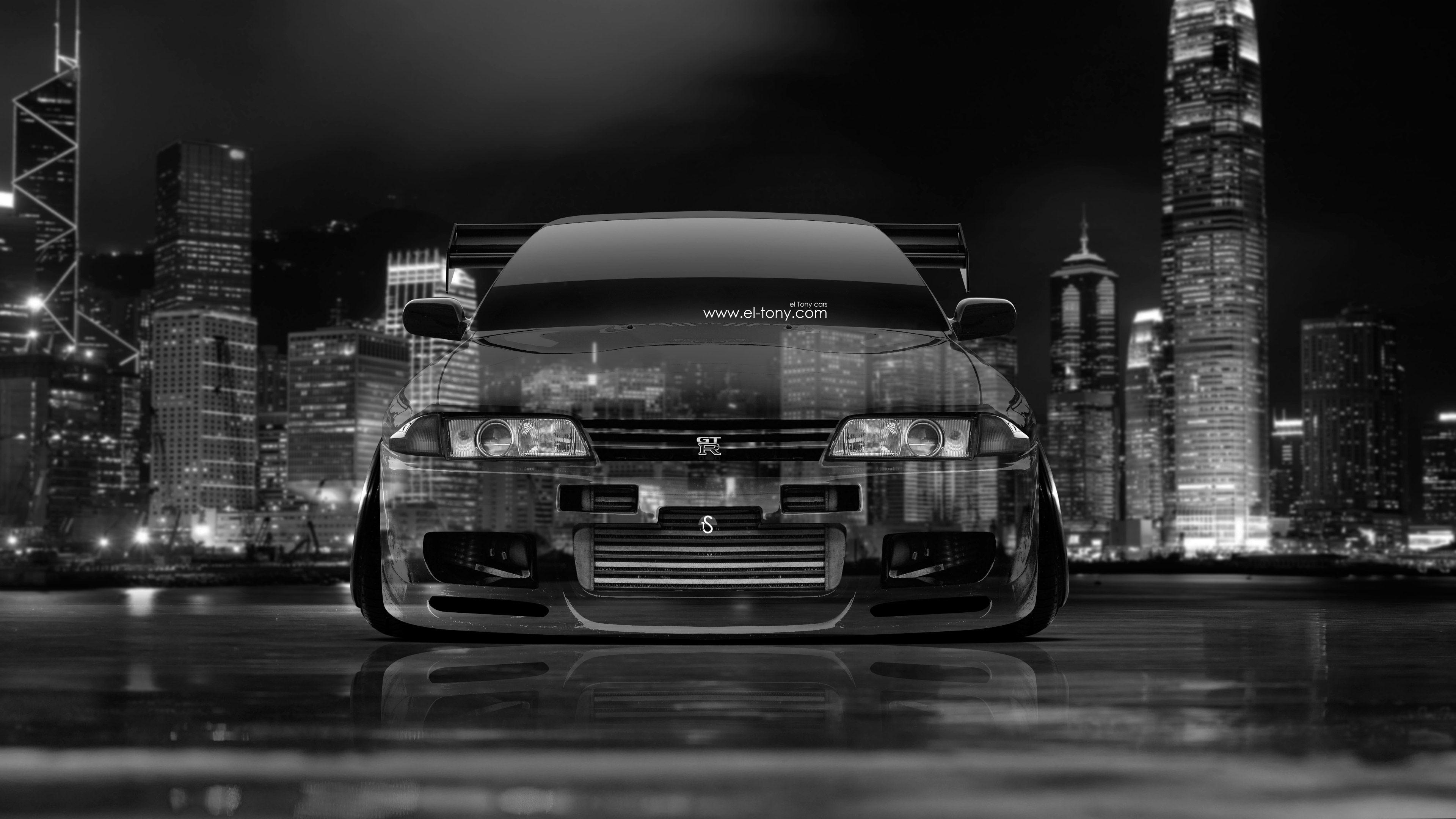 4K Wallpapers Nissan Skyline GTR R32 JDM Crystal City Car 2014 | el Tony