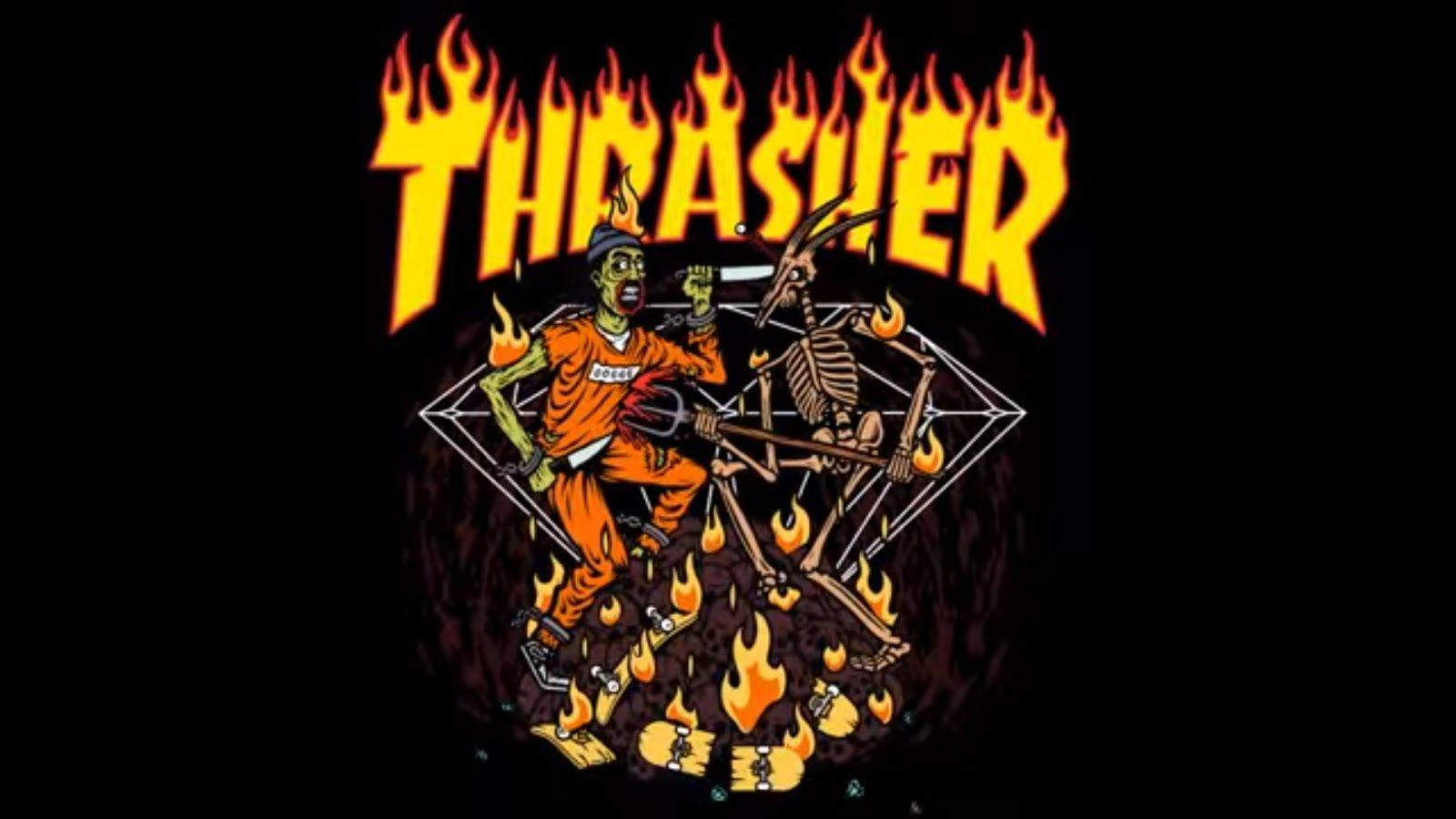 Thrasher Logo Wallpapers Wallpaper Cave
