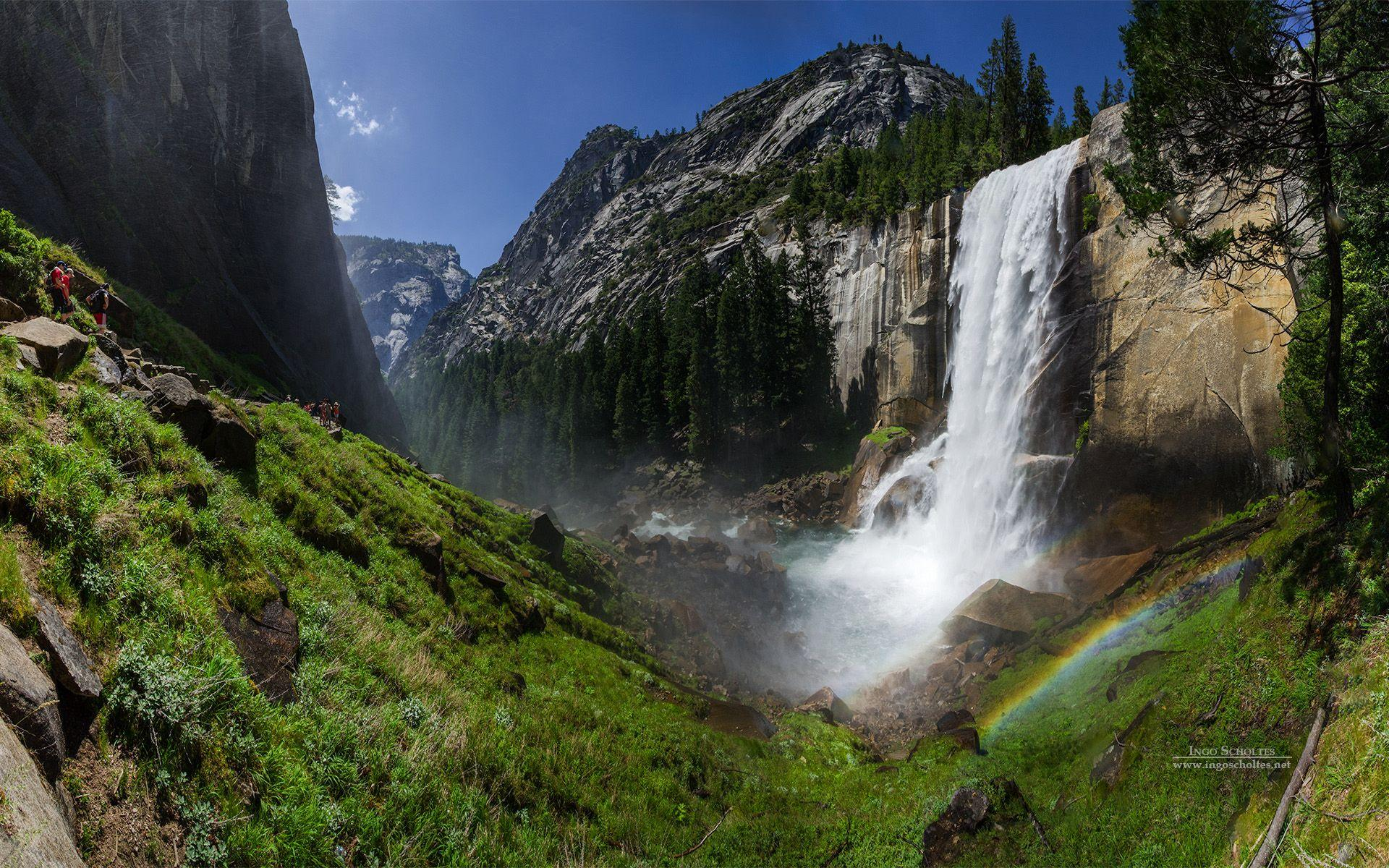 Vernal Fall Yosemite National Park Wallpapers