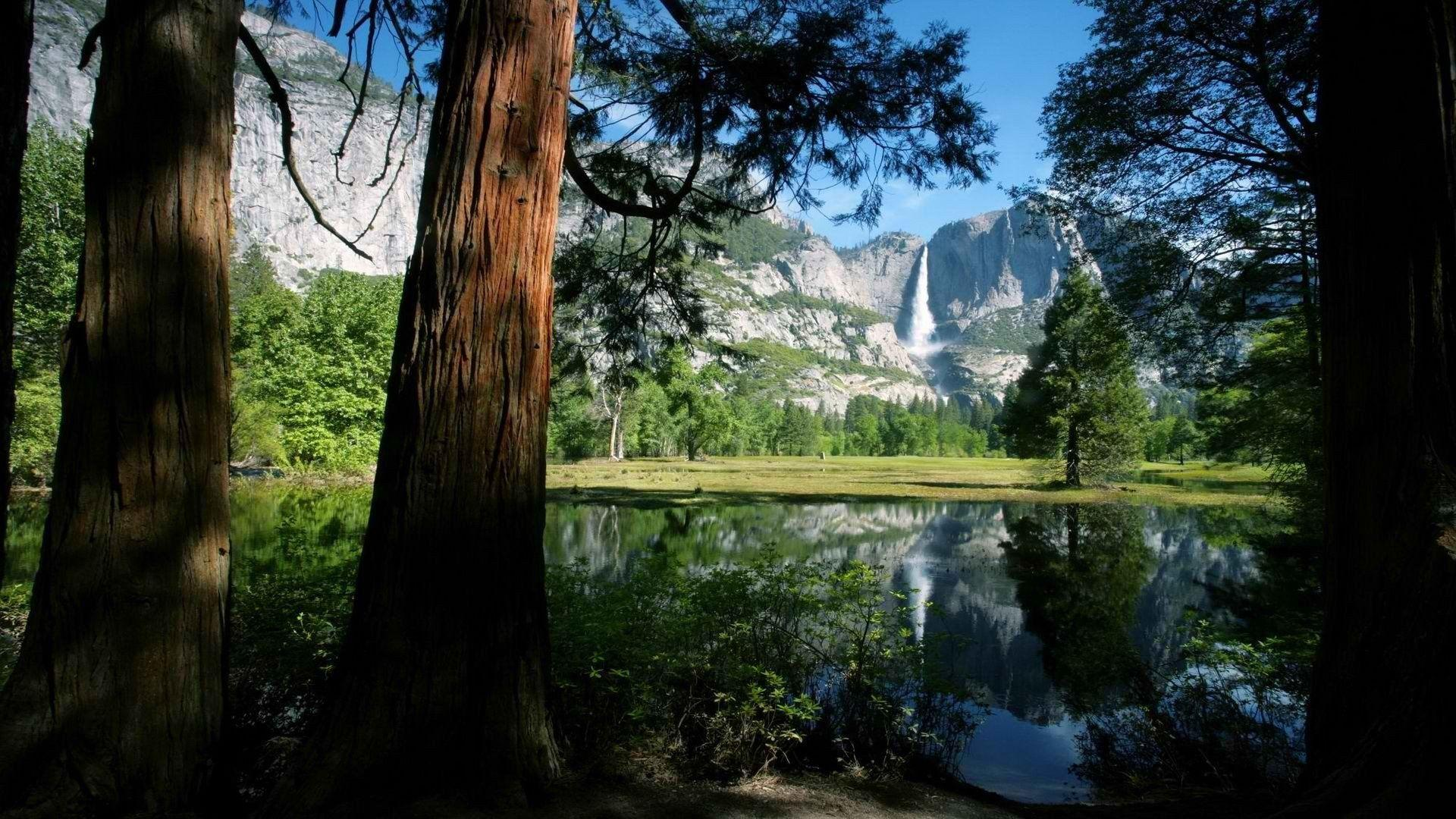 Falls California National Park Yosemite National Park wallpapers