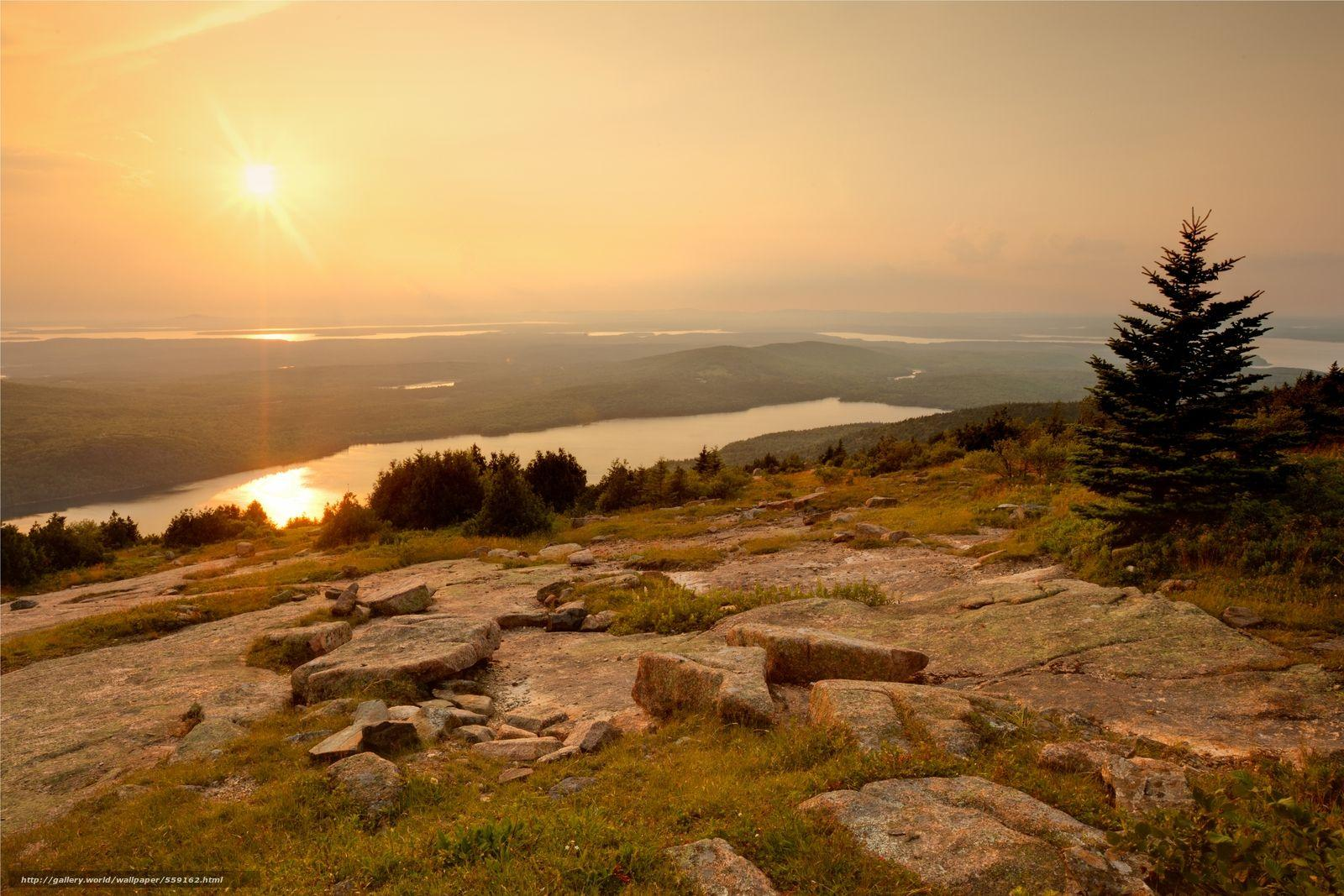 Download wallpapers Acadia National Park, Maine, USA free desktop